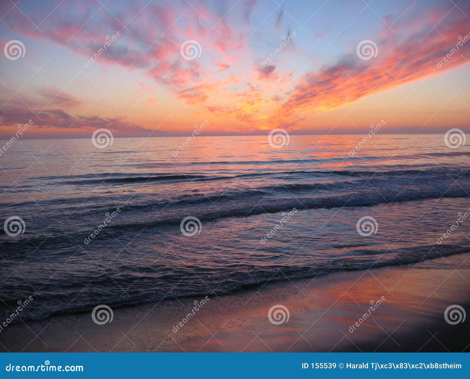 海滩orre日落