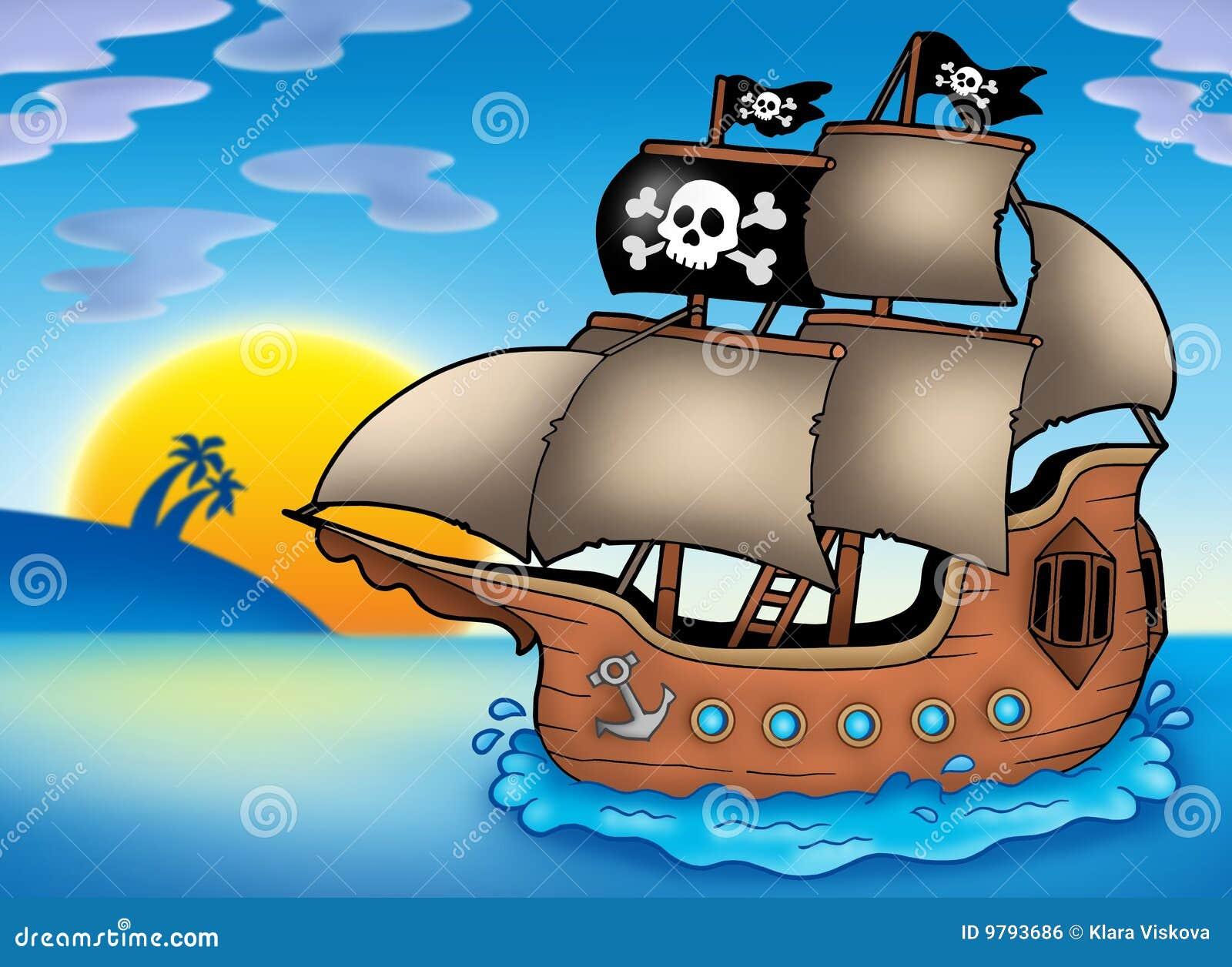 海盗海运船