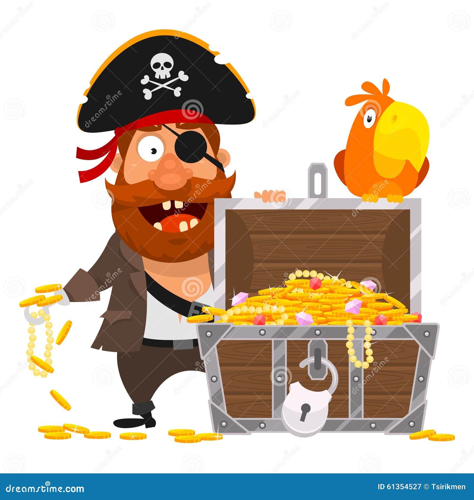 海盗和鹦鹉_海盗金子的鹦鹉和胸口