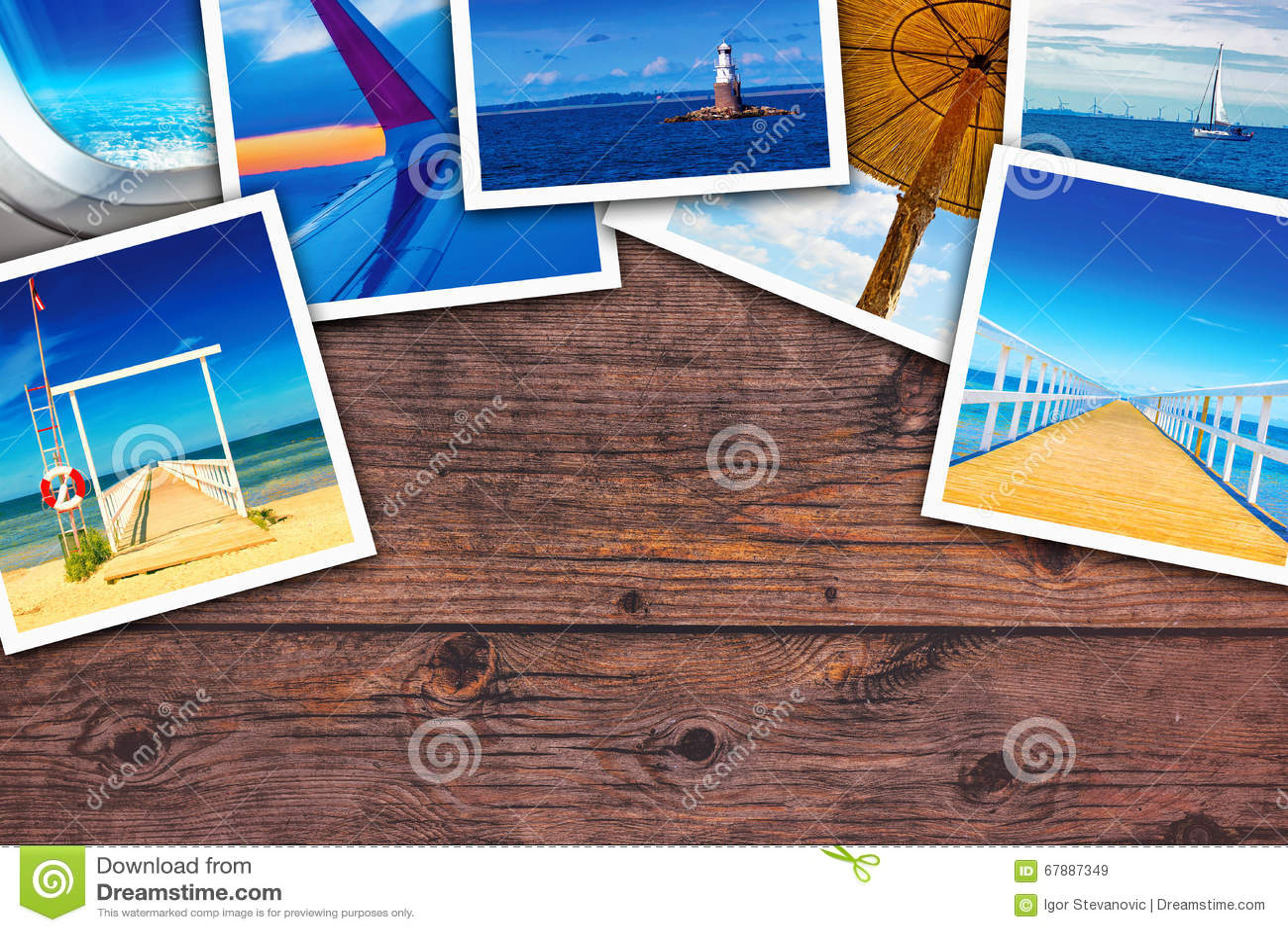 海边照片拼贴画