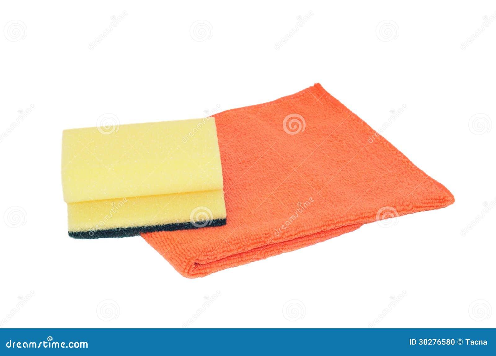 海绵和microfiber餐巾