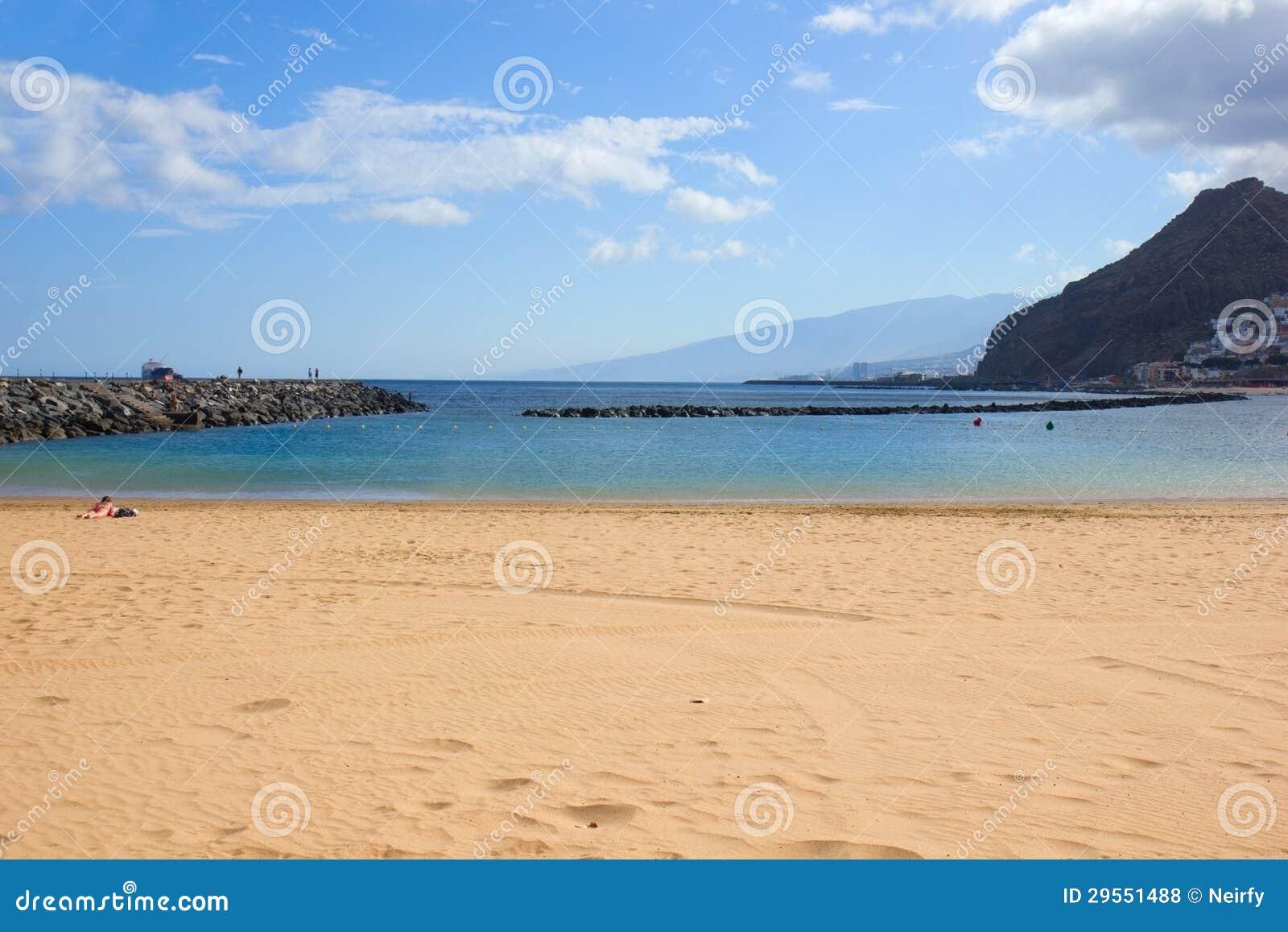 海滩圣克鲁斯de特内里费岛,西班牙