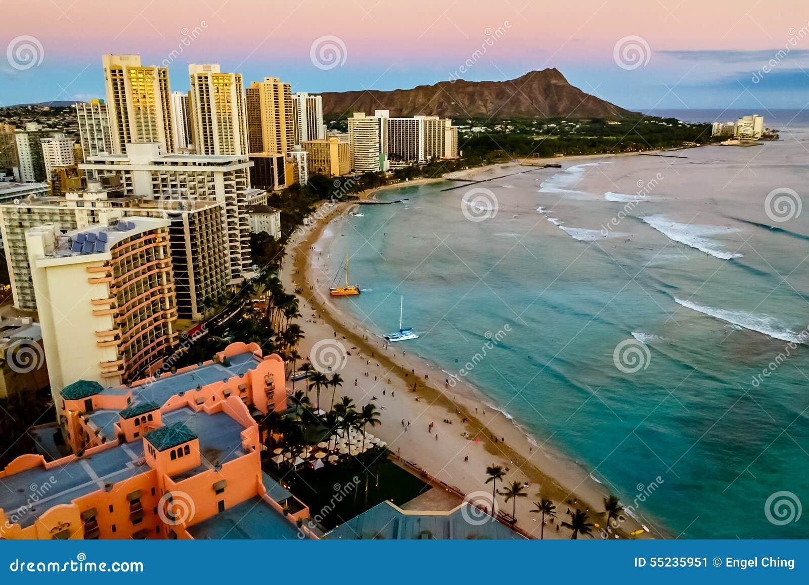 海滩檀香山waikiki