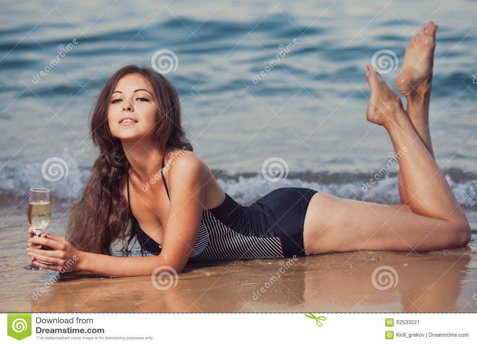 海滩的女孩