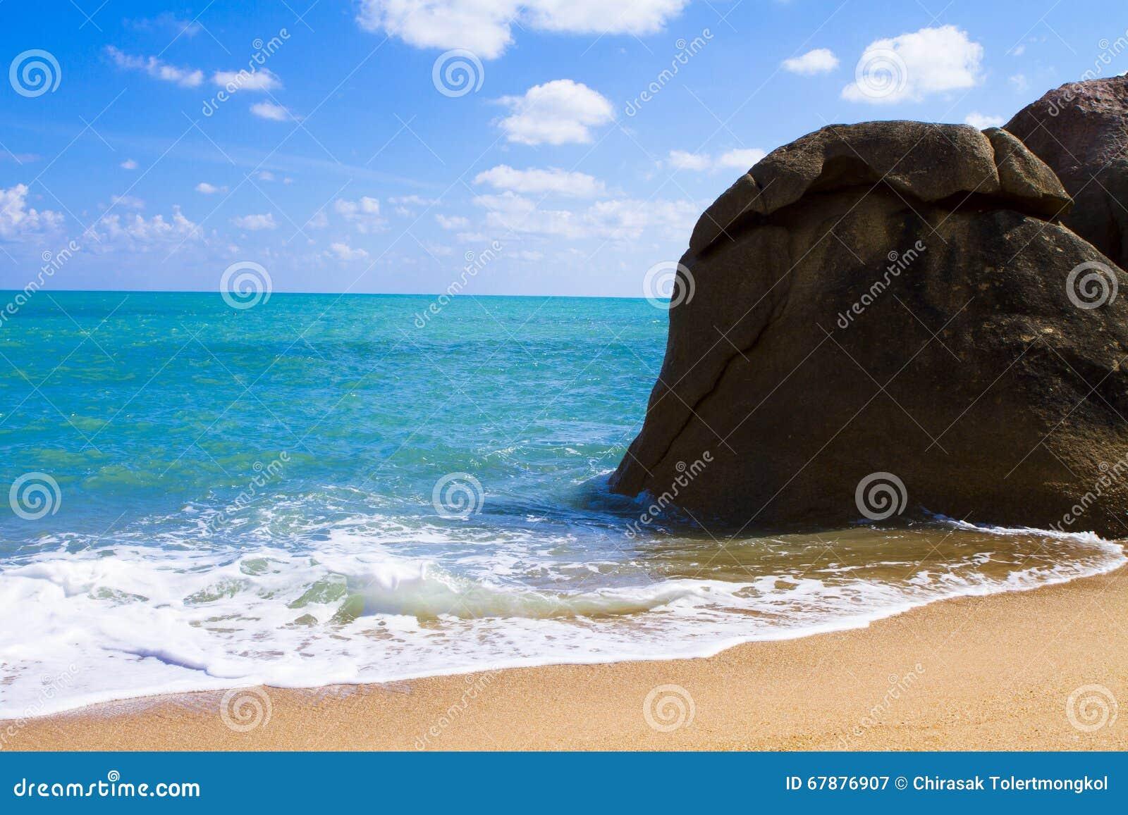 海滩视图苏梅岛海岛早晨