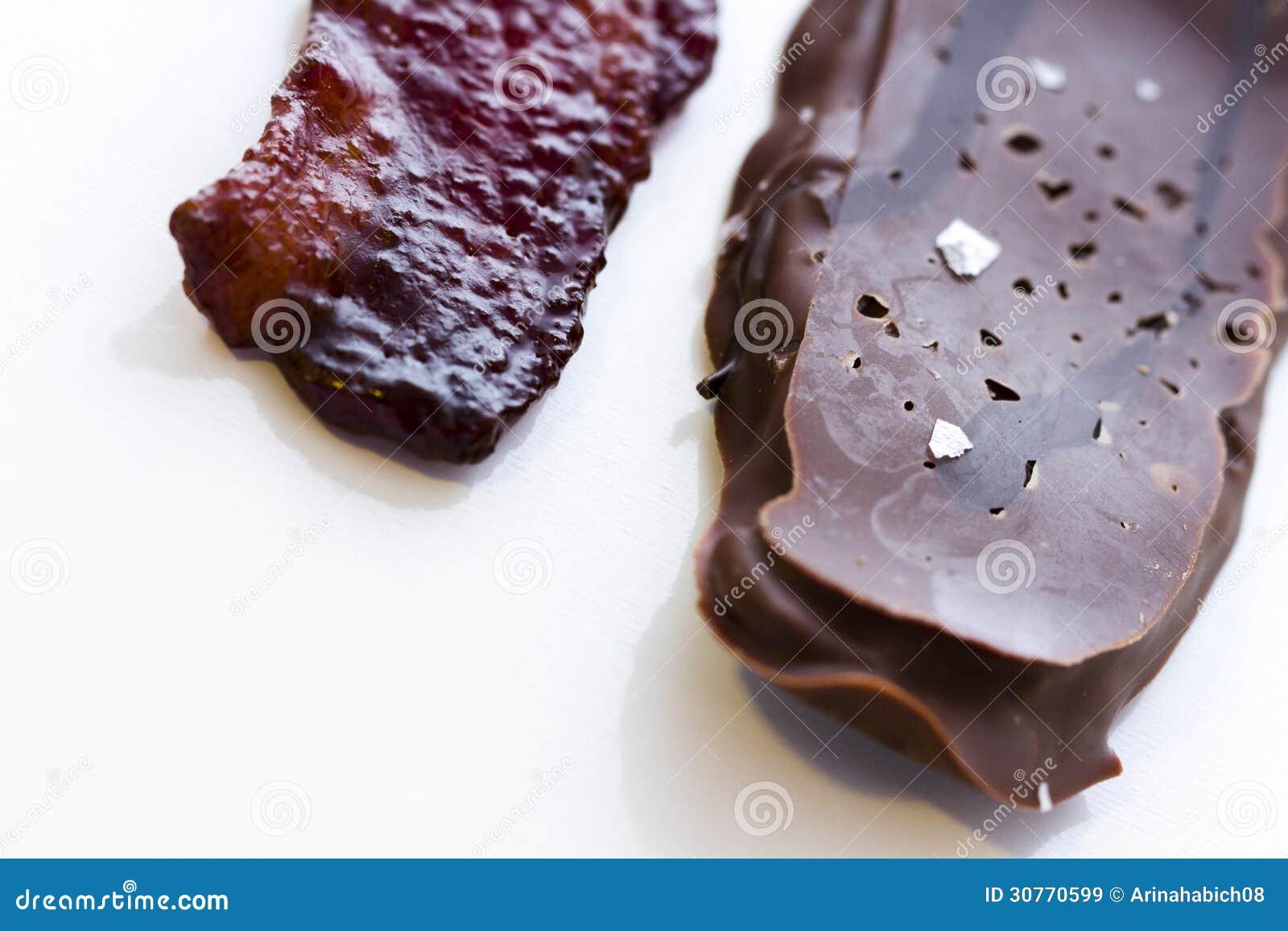 涂了巧克力的烟肉