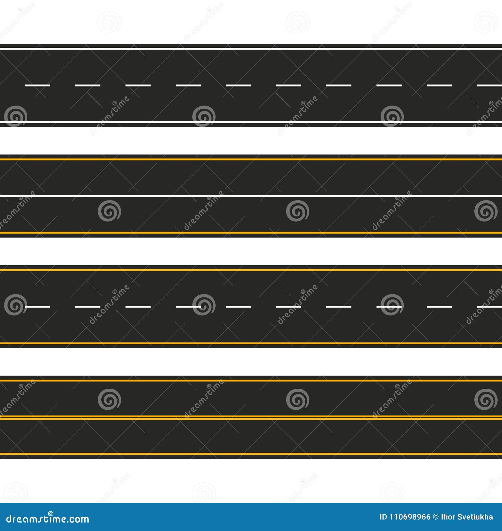 涂柏油的 套与标号的路类型 高速公路小条infographic的模板设计 也corel凹道例证向量
