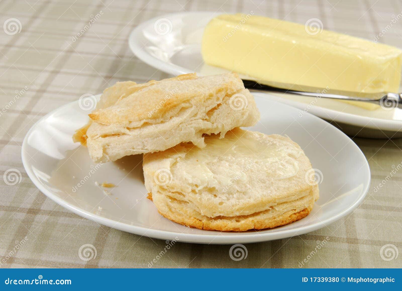 涂黄油的饼干