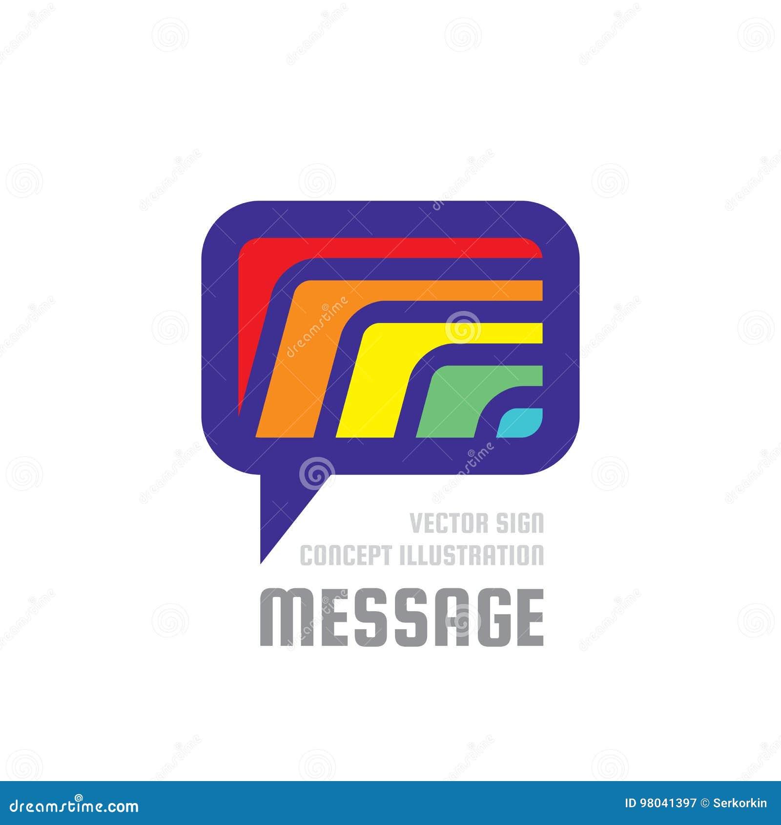 消息-创造性的传染媒介背景例证 通信五颜六色的商标模板 讲话泡影摘要标志 束起通信有概念的交谈媒体人社交