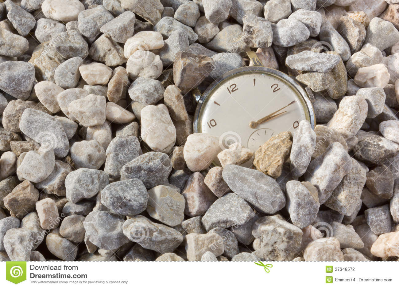 涌现从石渣的老手表
