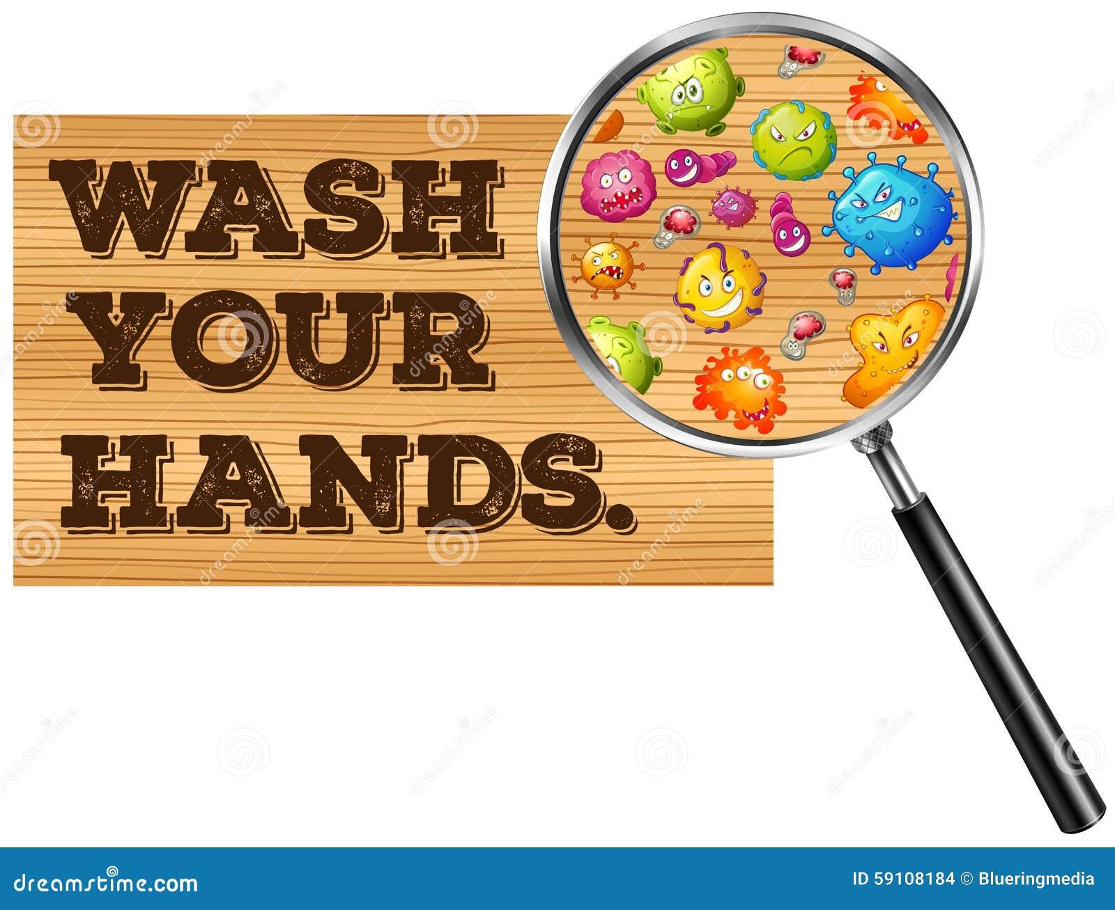 洗涤您的手标志