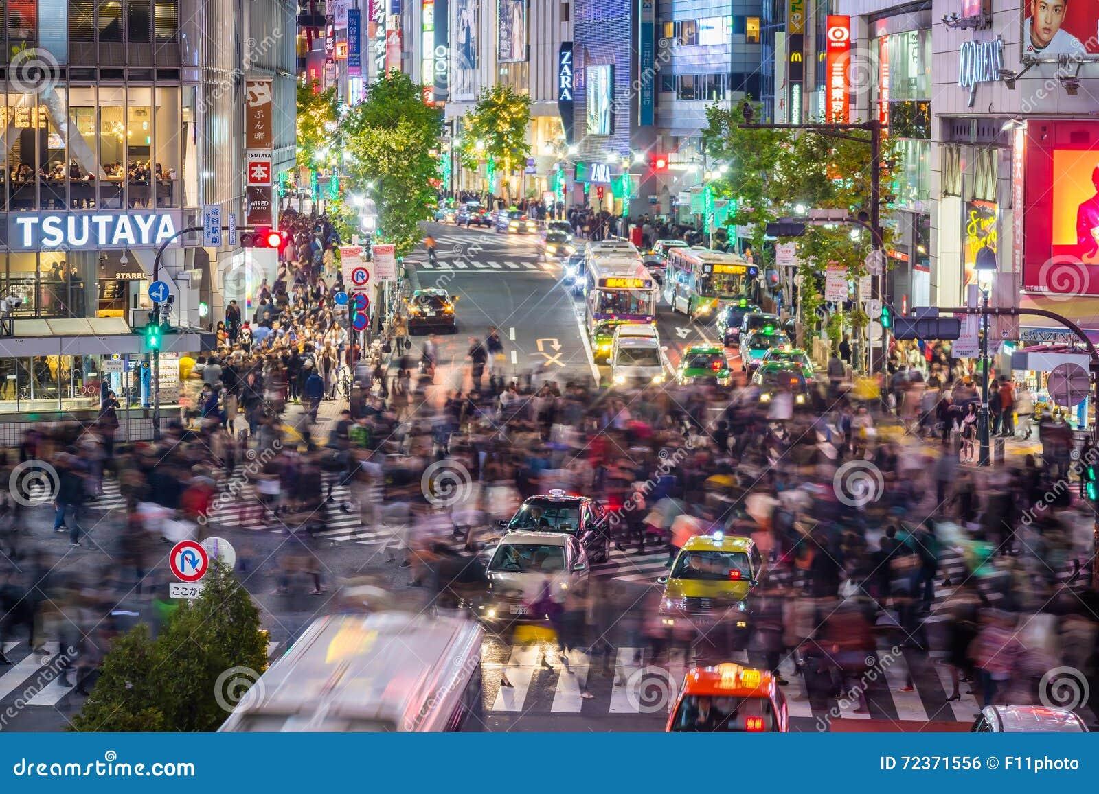 涩谷横穿Topview视图在涩谷东京