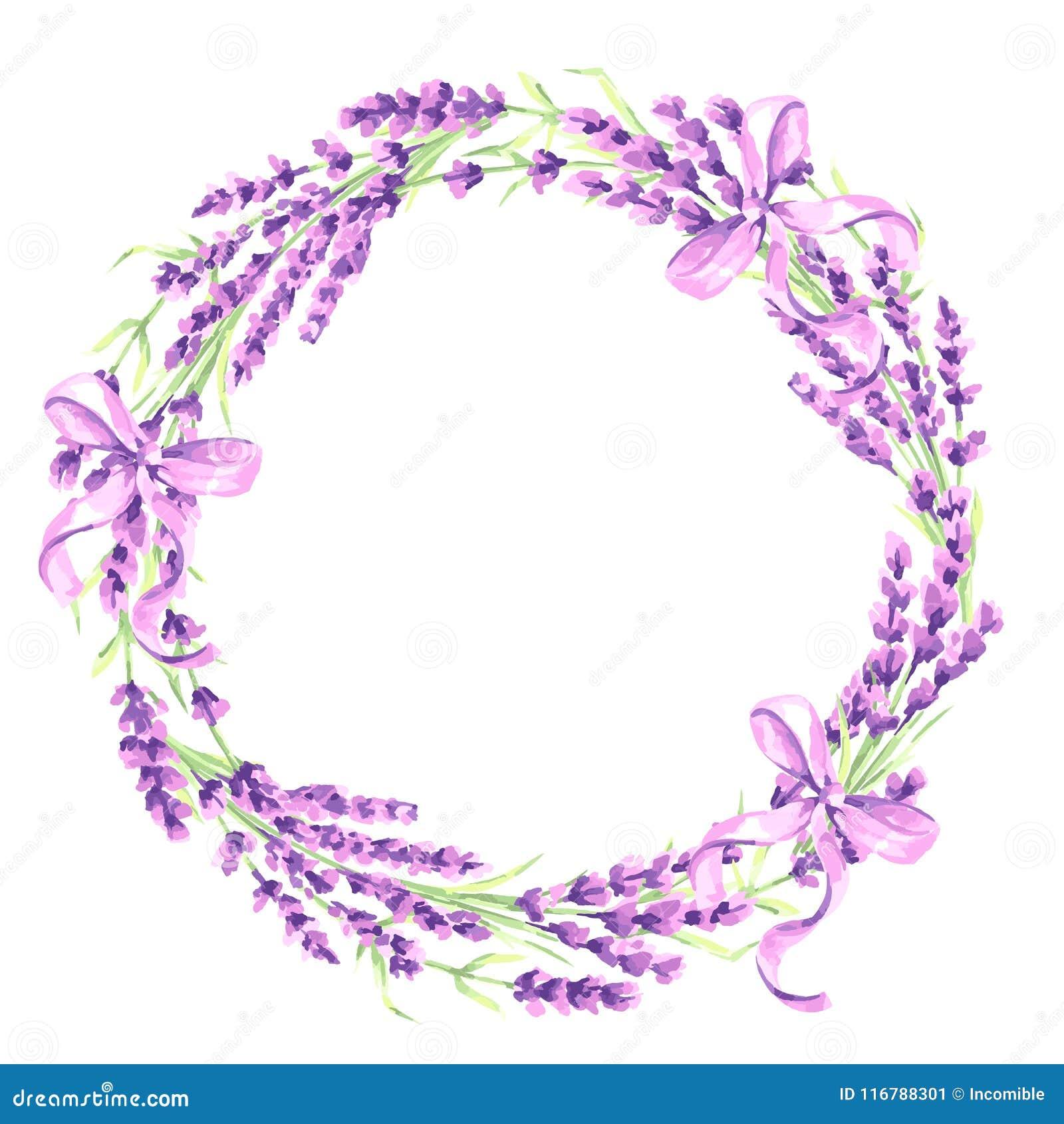 淡紫色开花装饰元素