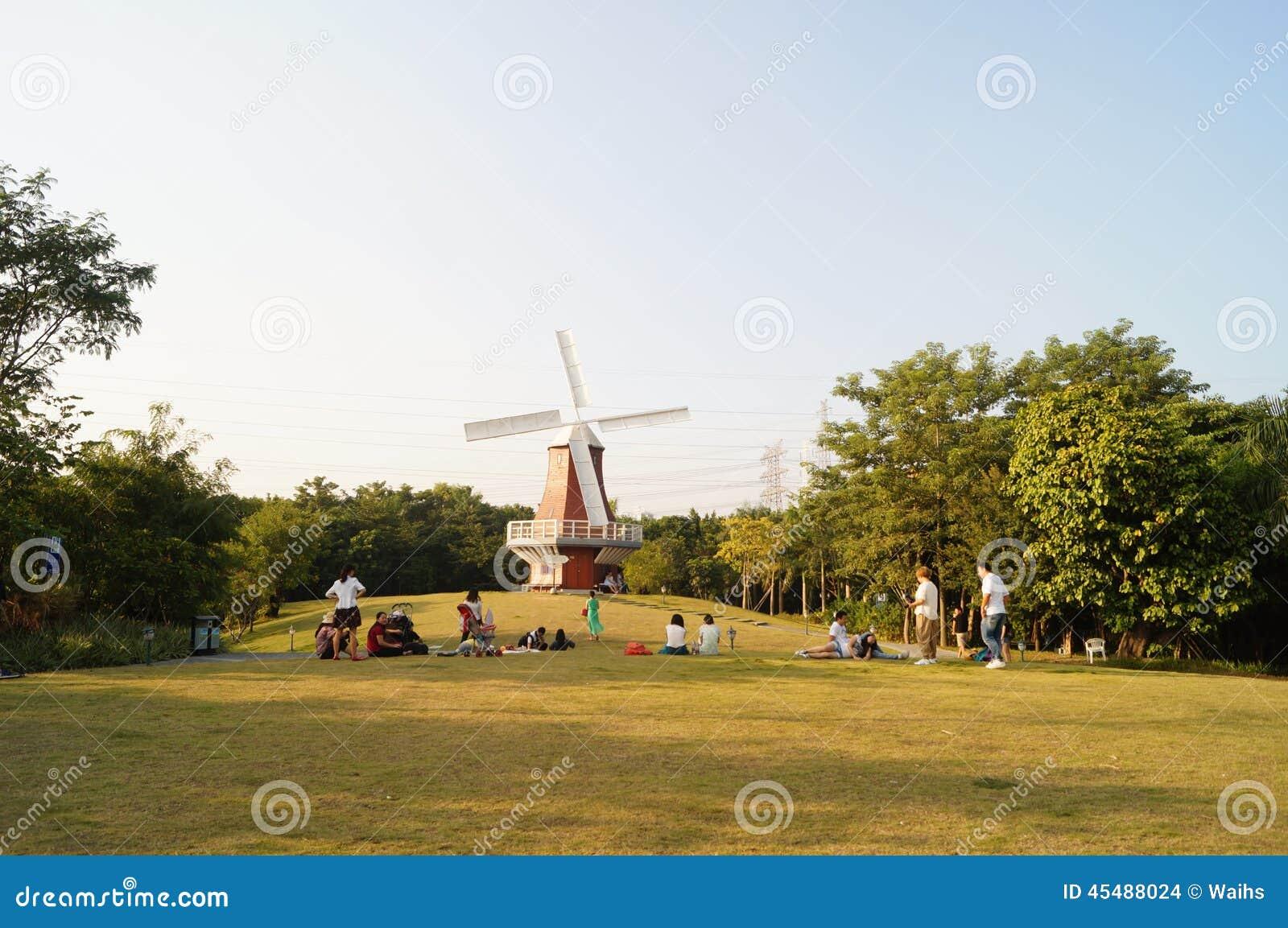 深圳,中国:荷兰花镇风景