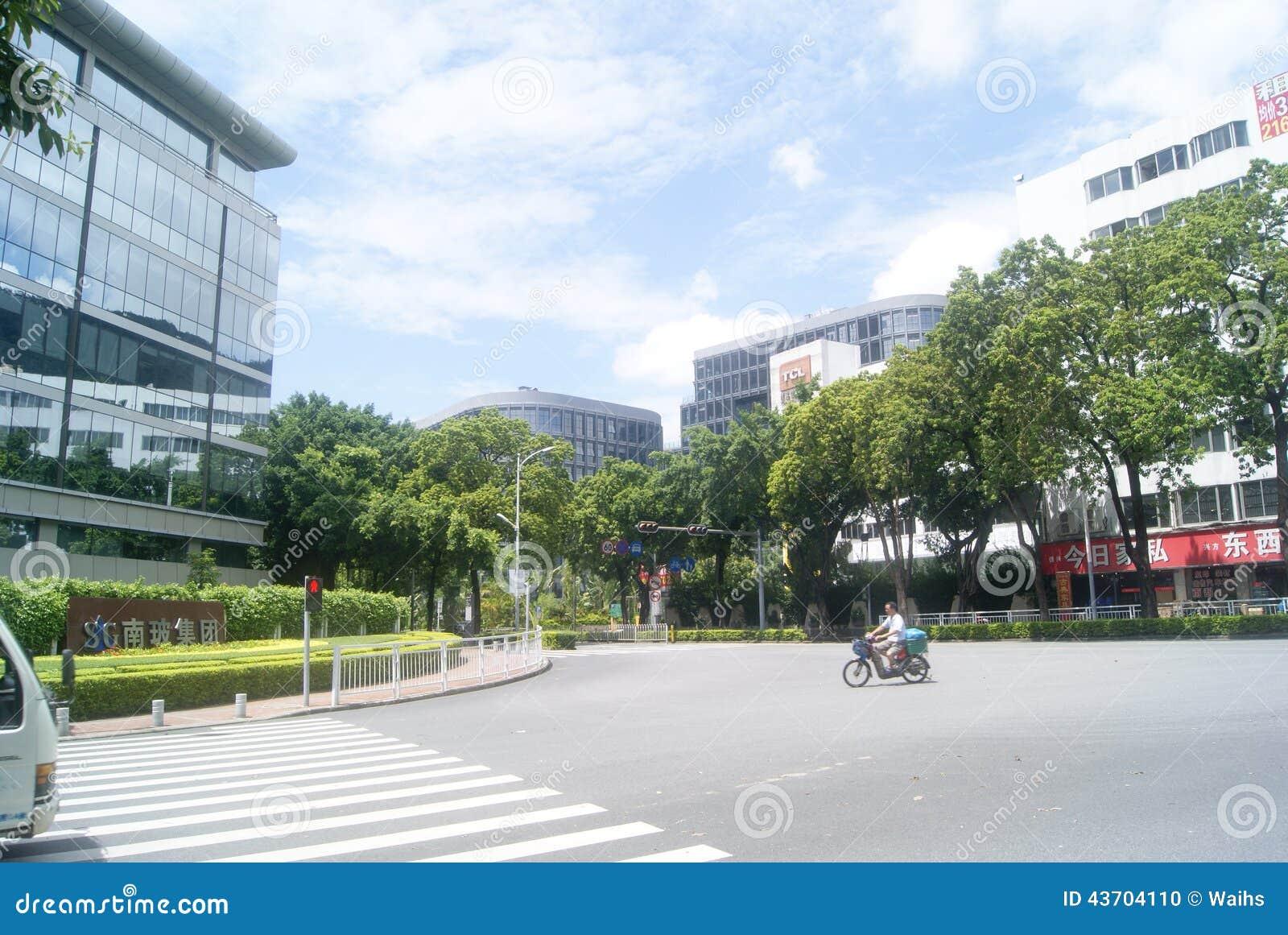 深圳,中国:蛇口街道风景编辑类...