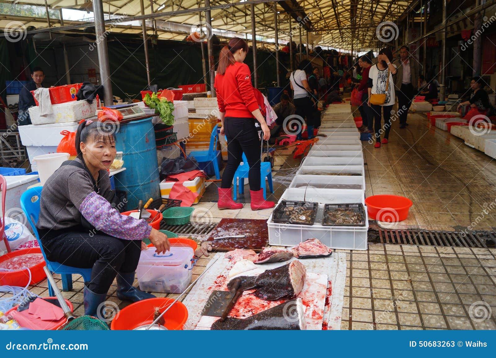Download 深圳,瓷:海鲜市场 编辑类库存照片. 图片 包括有 室外, 购物, 聚会所, 海鲜, 供营商, 客户, 市场 - 50683263