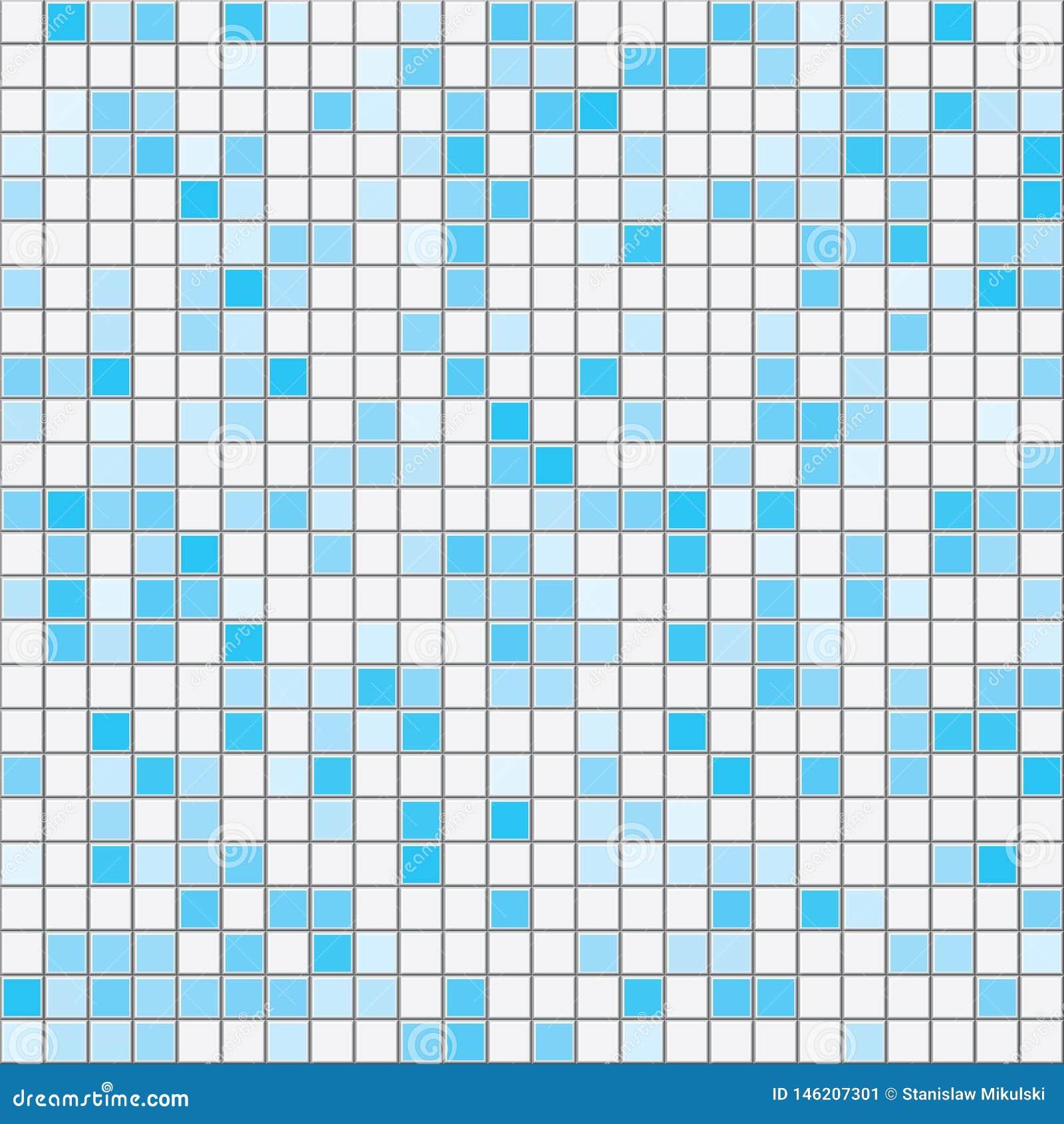 深蓝正方形铺磁砖无缝的传染媒介纹理