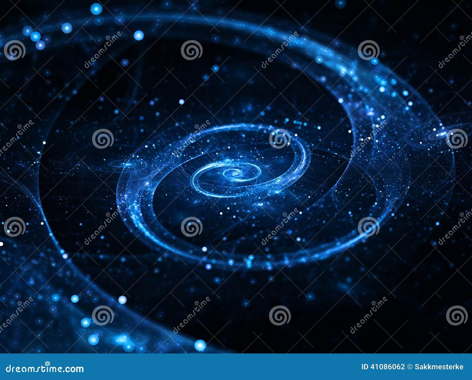 深刻的星系空间螺旋