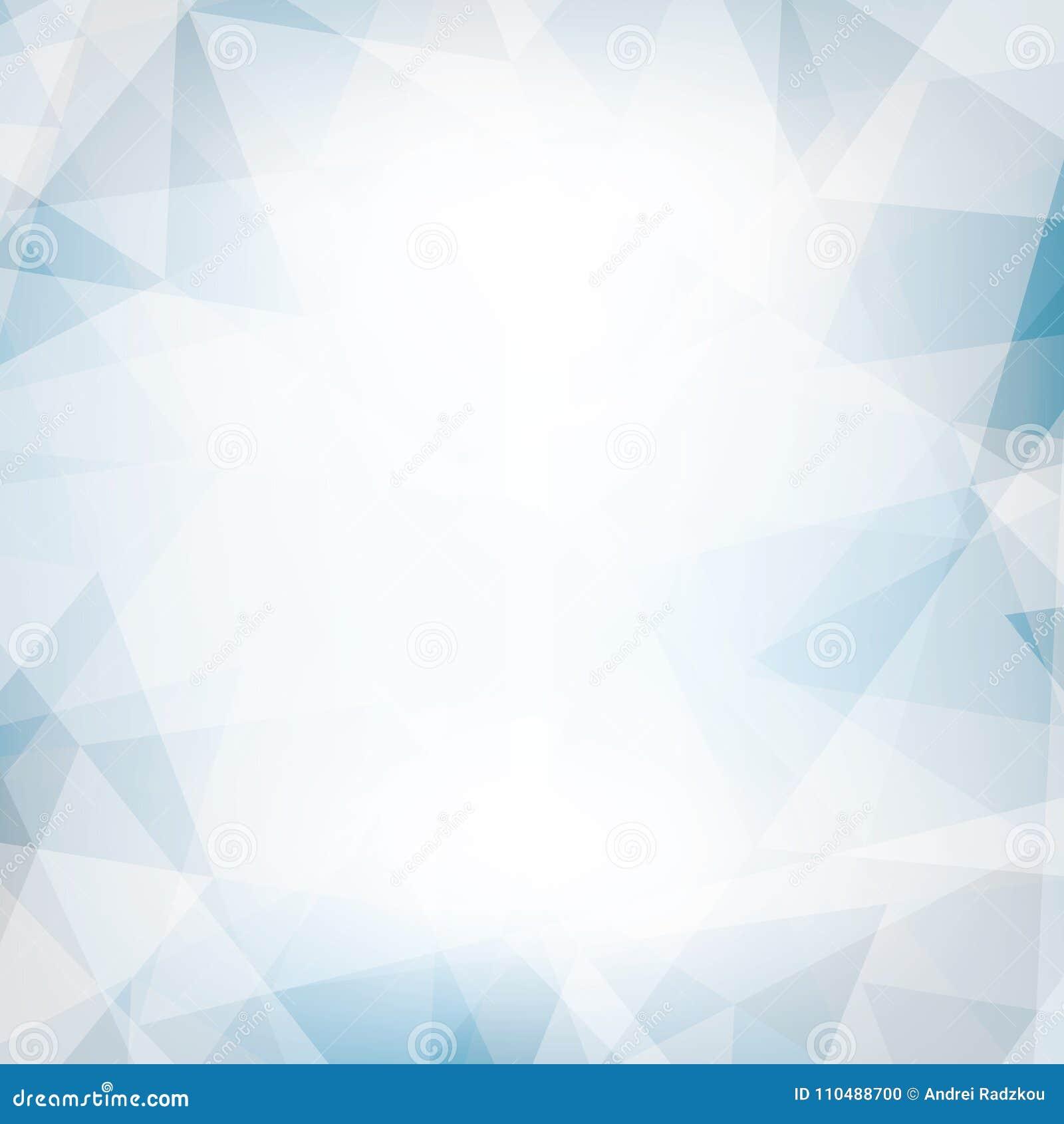 混乱三角构造的浅兰和灰色背景