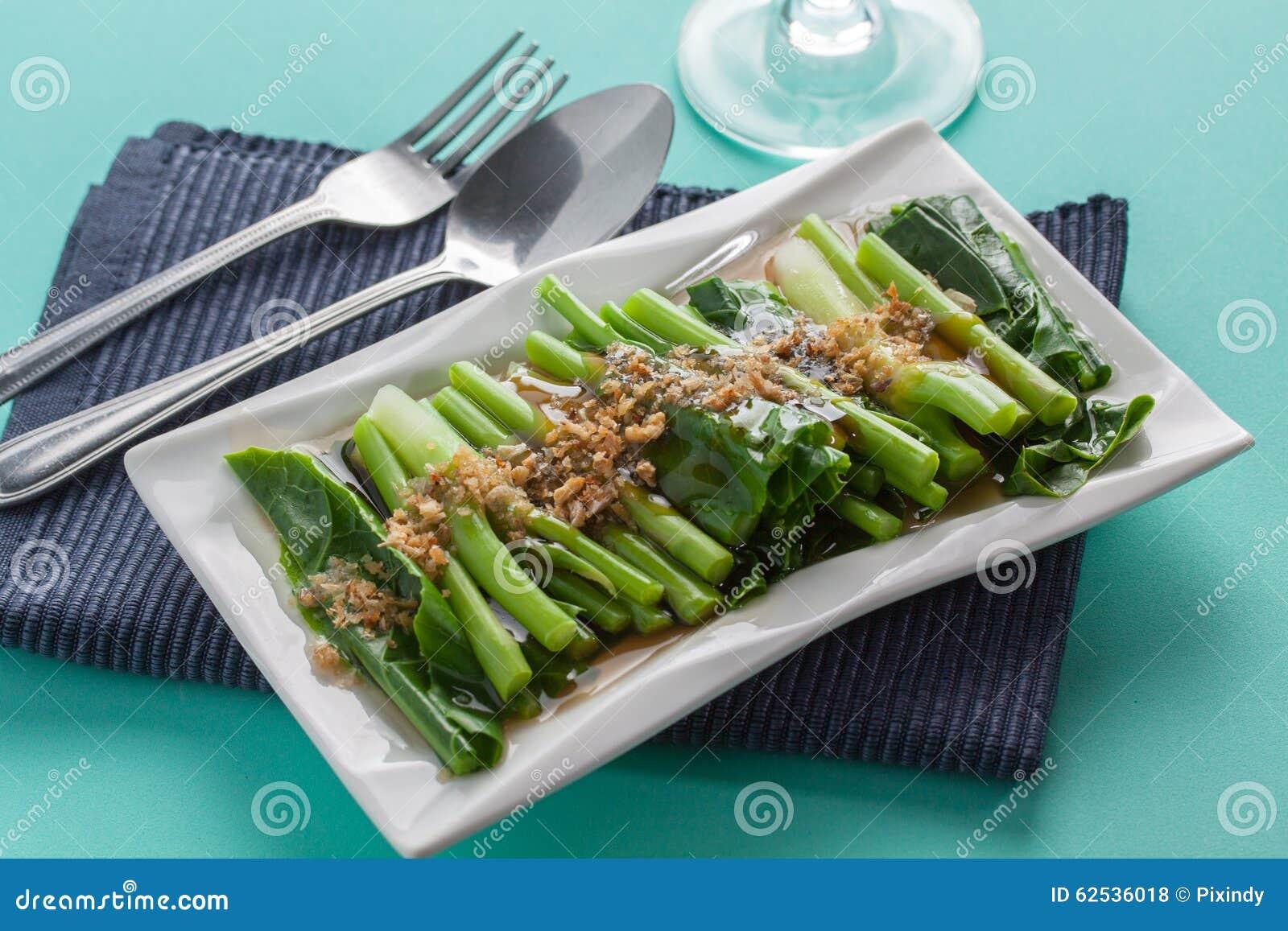 混乱油煎的蔬菜