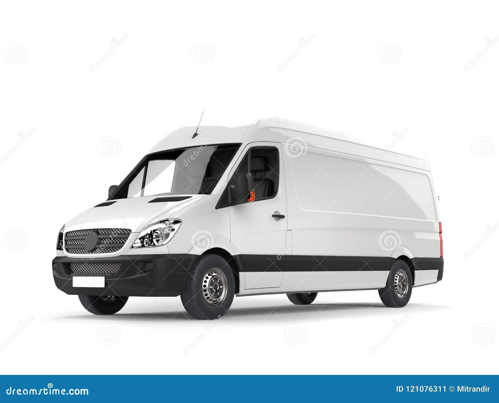 清洗白色现代送货车