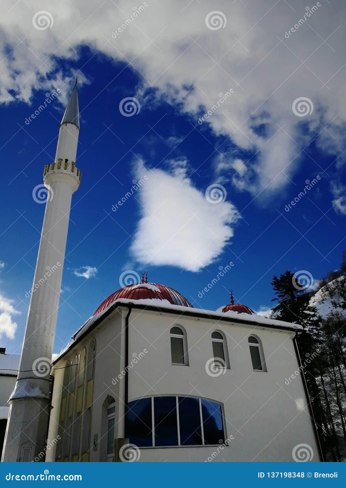 清真寺的好的看法在我的村庄