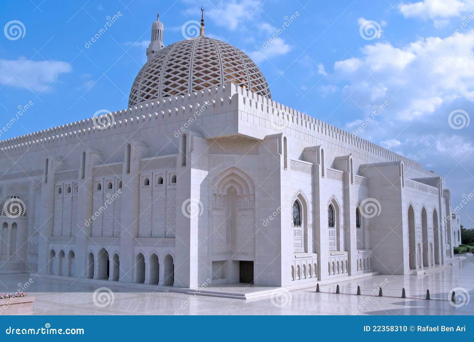 清真寺阿曼qaboos苏丹