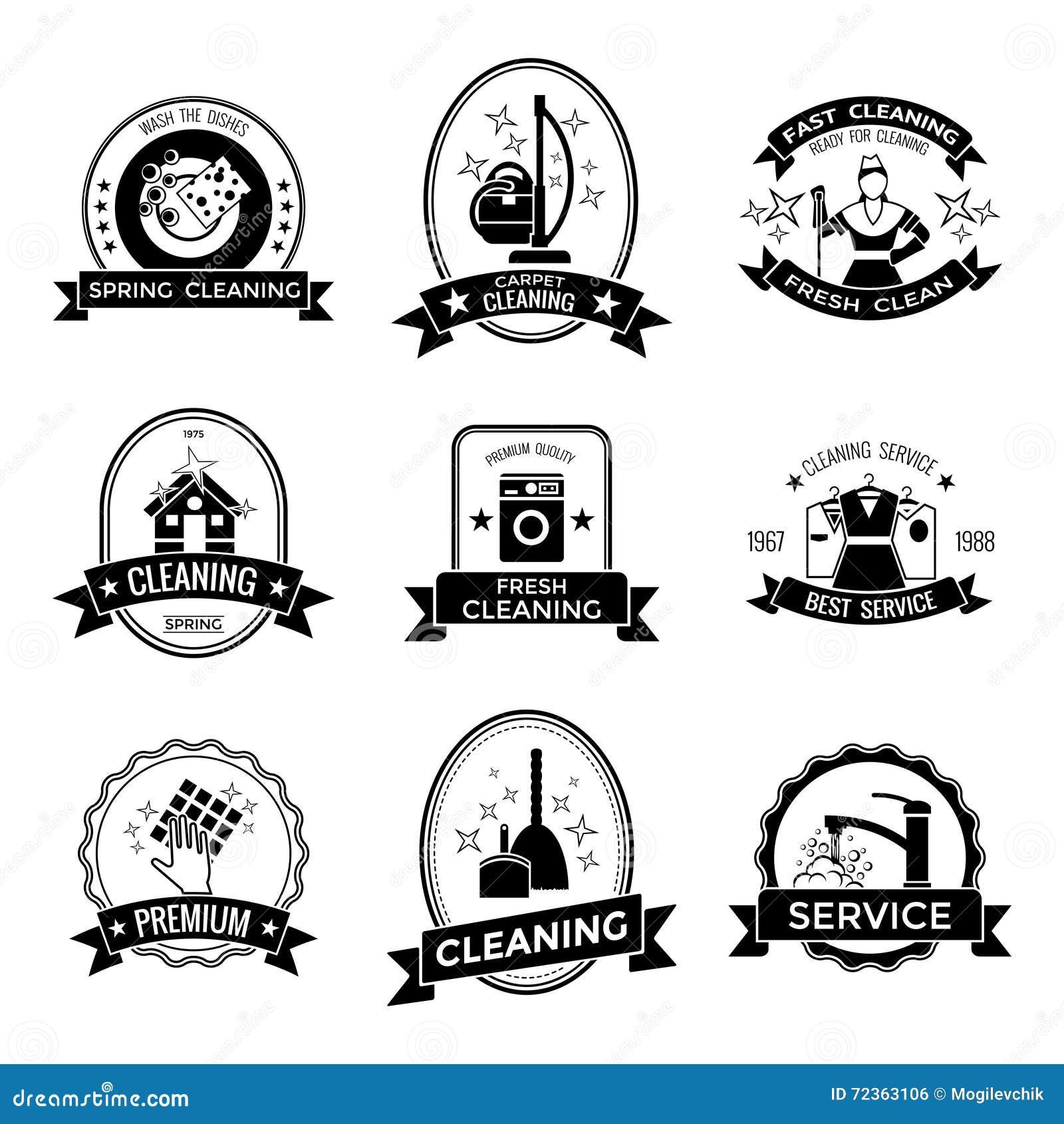清洁服务图表象征