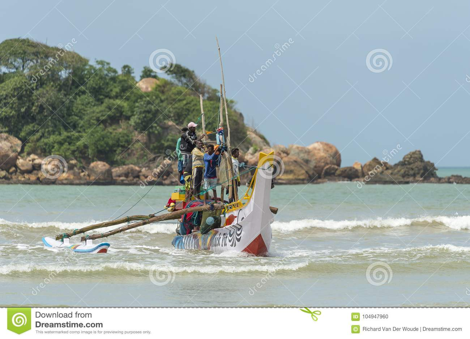 渔夫在斯里兰卡