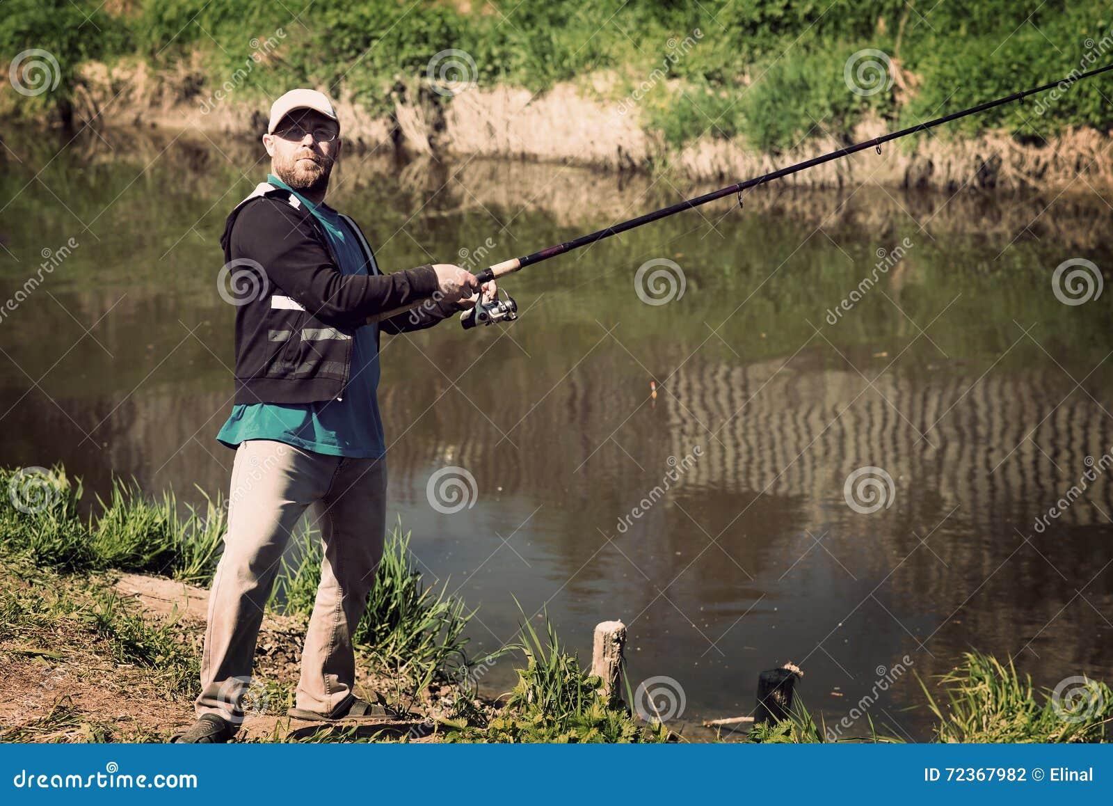 渔,有钓鱼竿的人 河,室外