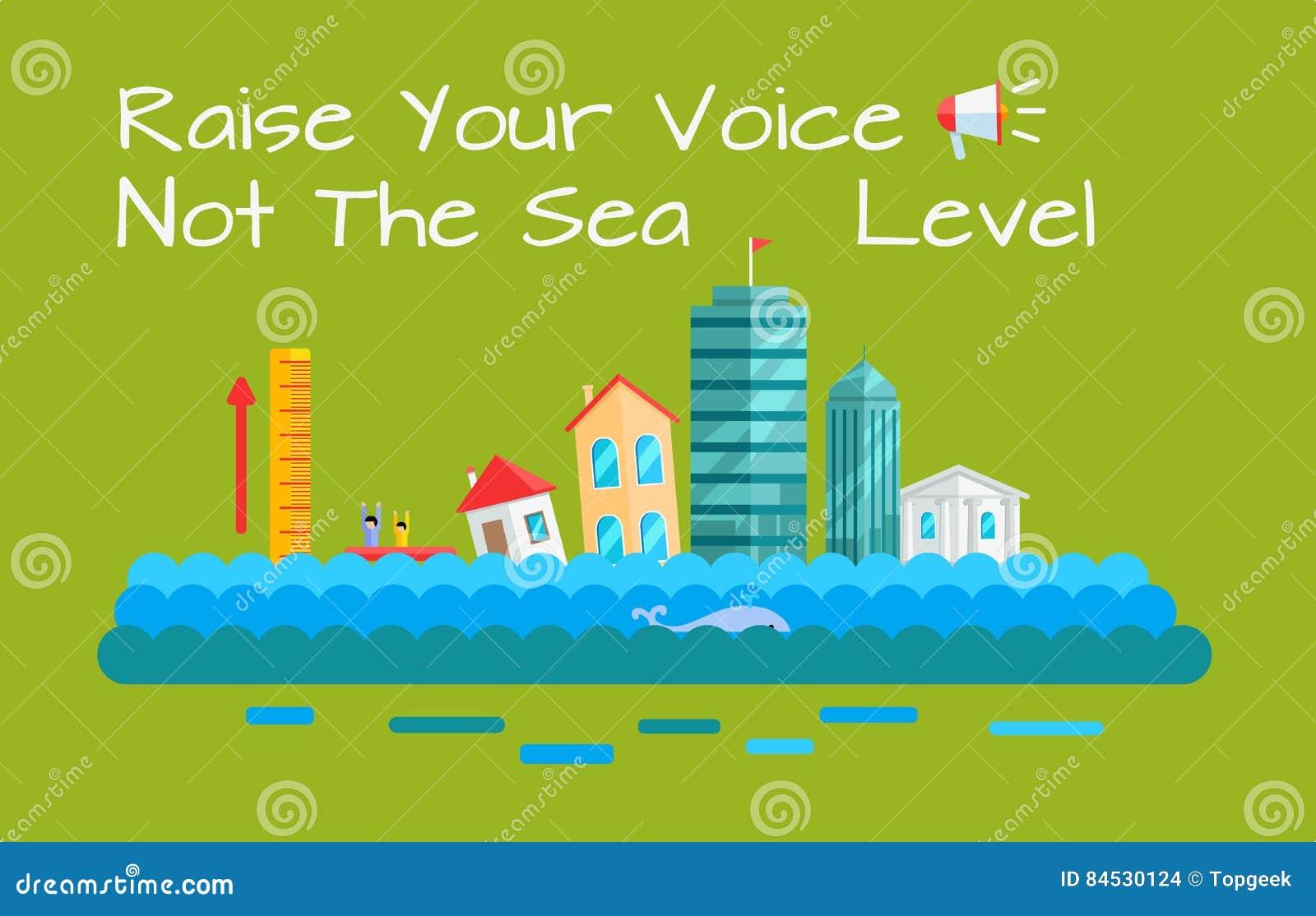 温暖和海平面增量传染媒介概念