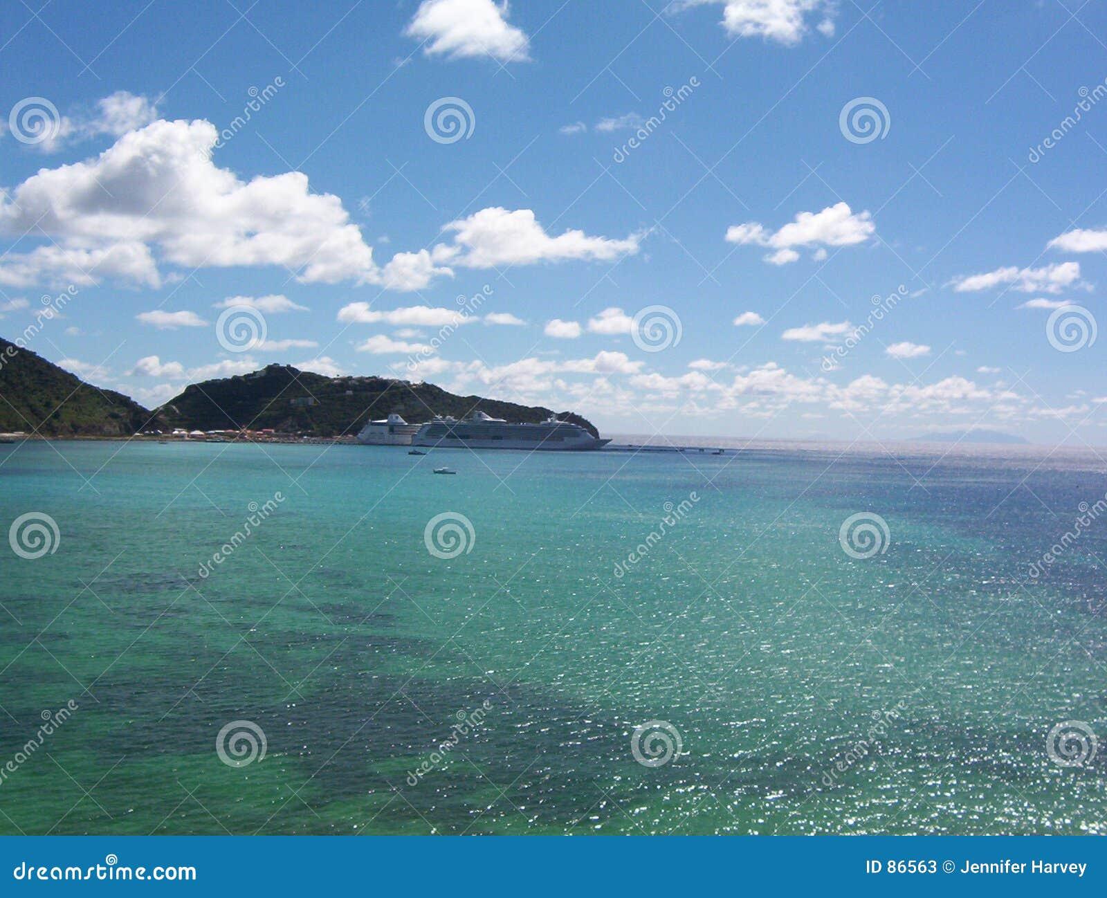 温暖微风的加勒比海