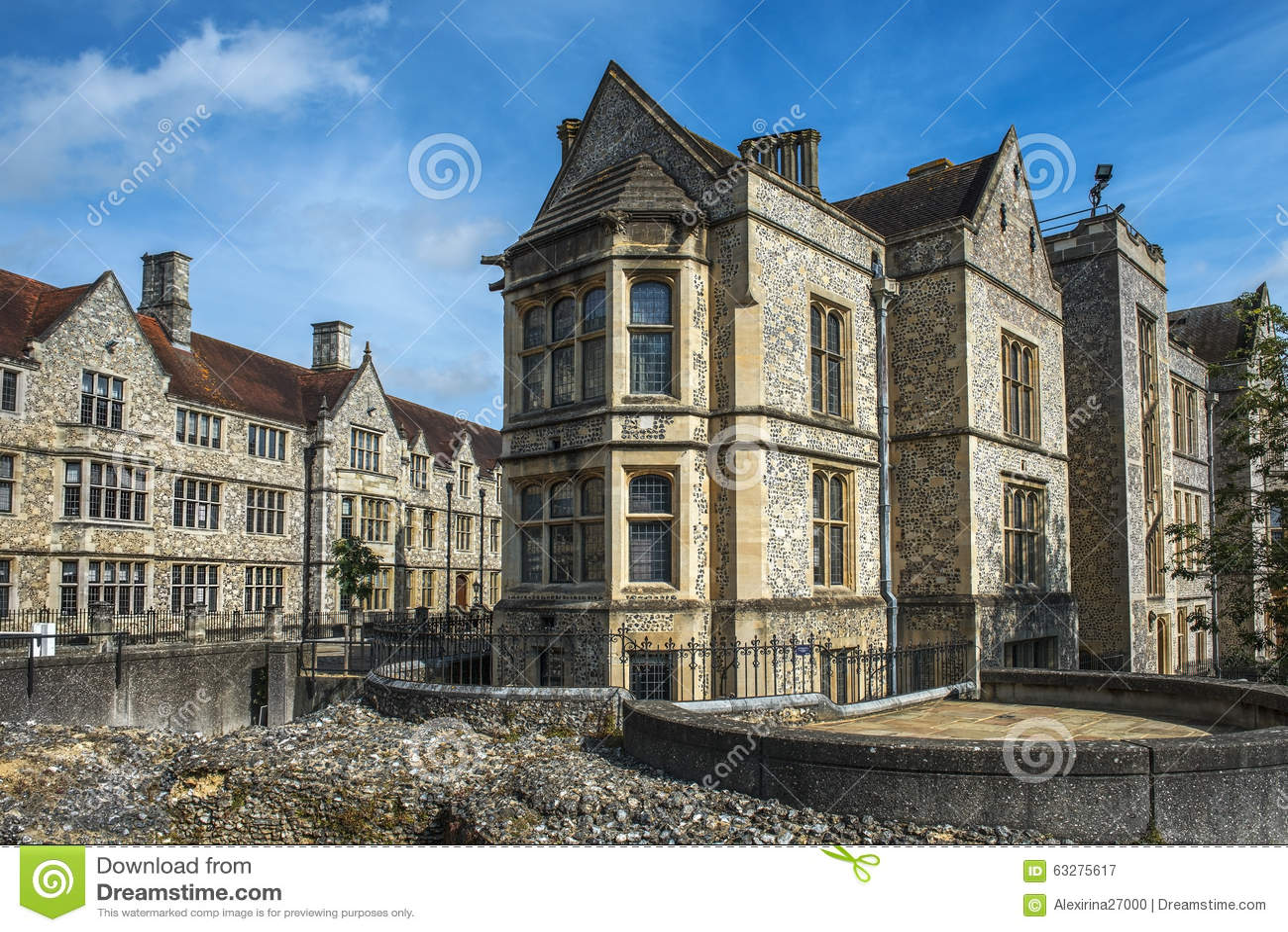 温彻斯特城堡的大厅在汉普郡,英国