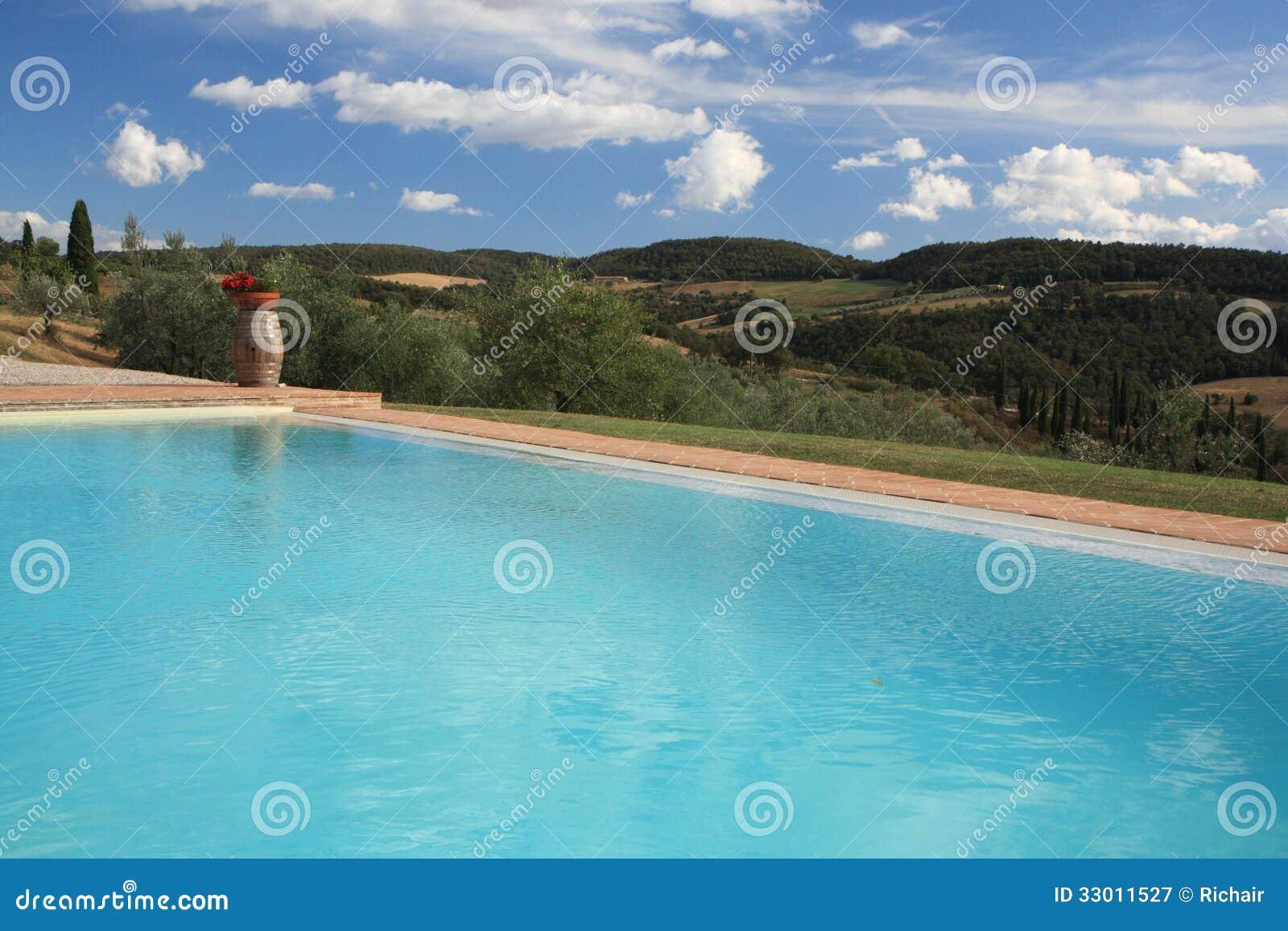 游泳池有风景看法