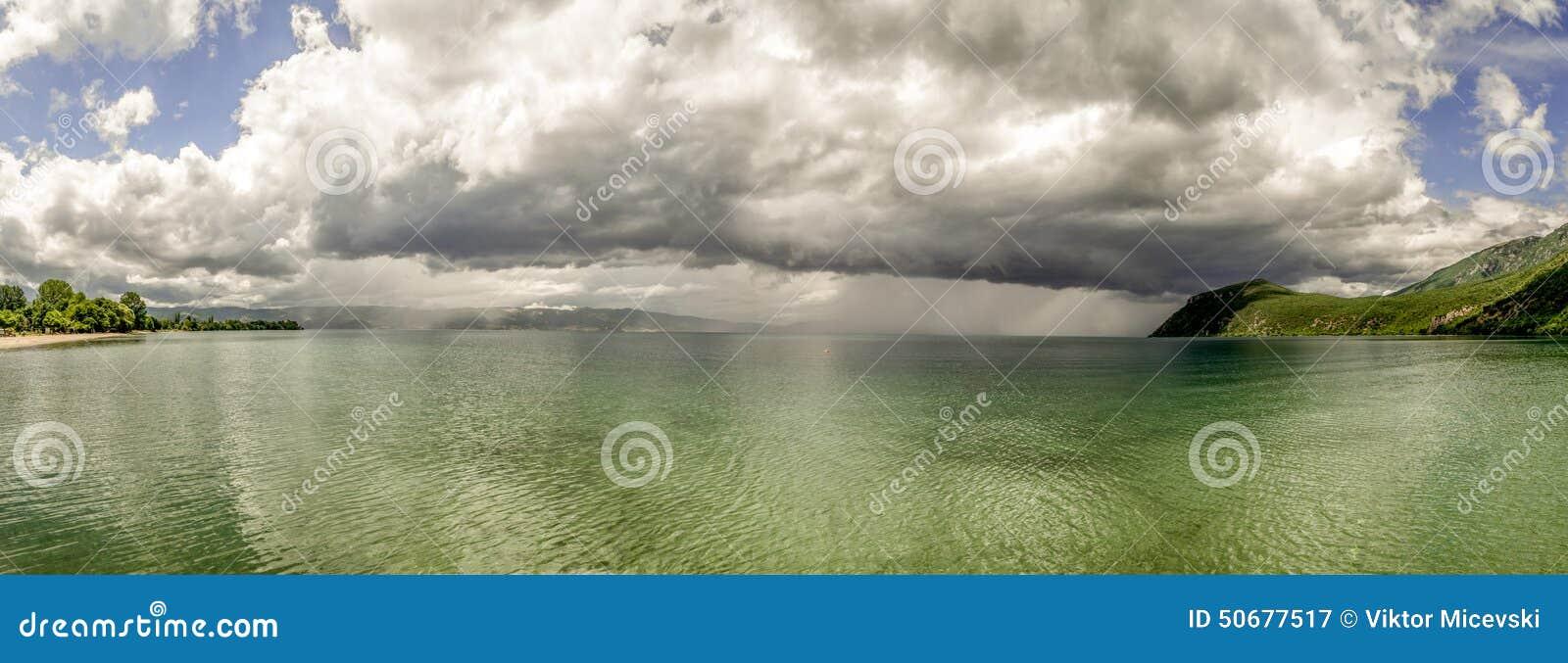 Download 湖全景 库存图片. 图片 包括有 绿色, 室外, 横向, 自然, 夏天, 风景, cloudscape, 蓝色 - 50677517