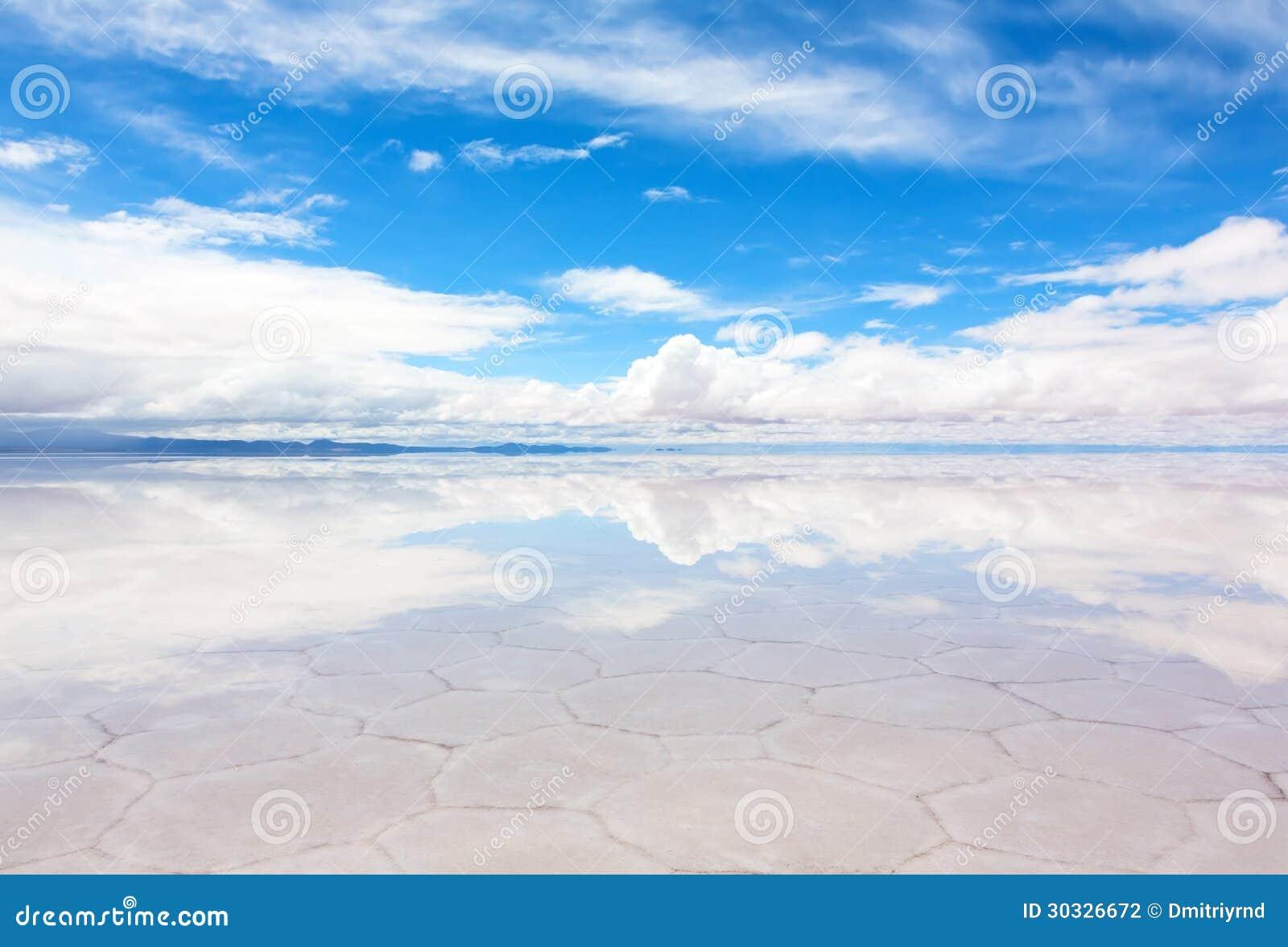 湖撒拉族与水薄层的de Uyuni