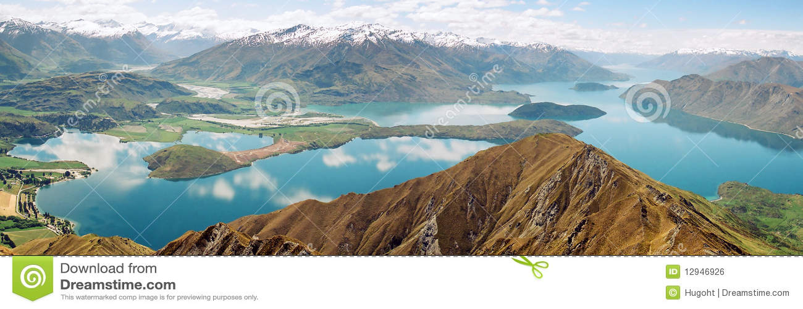 湖新的全景wanaka西兰