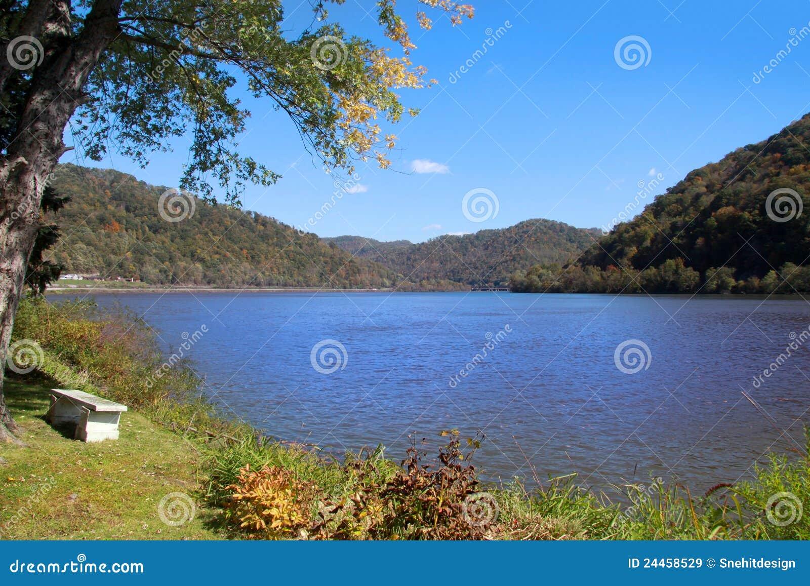 湖西方风景的弗吉尼亚