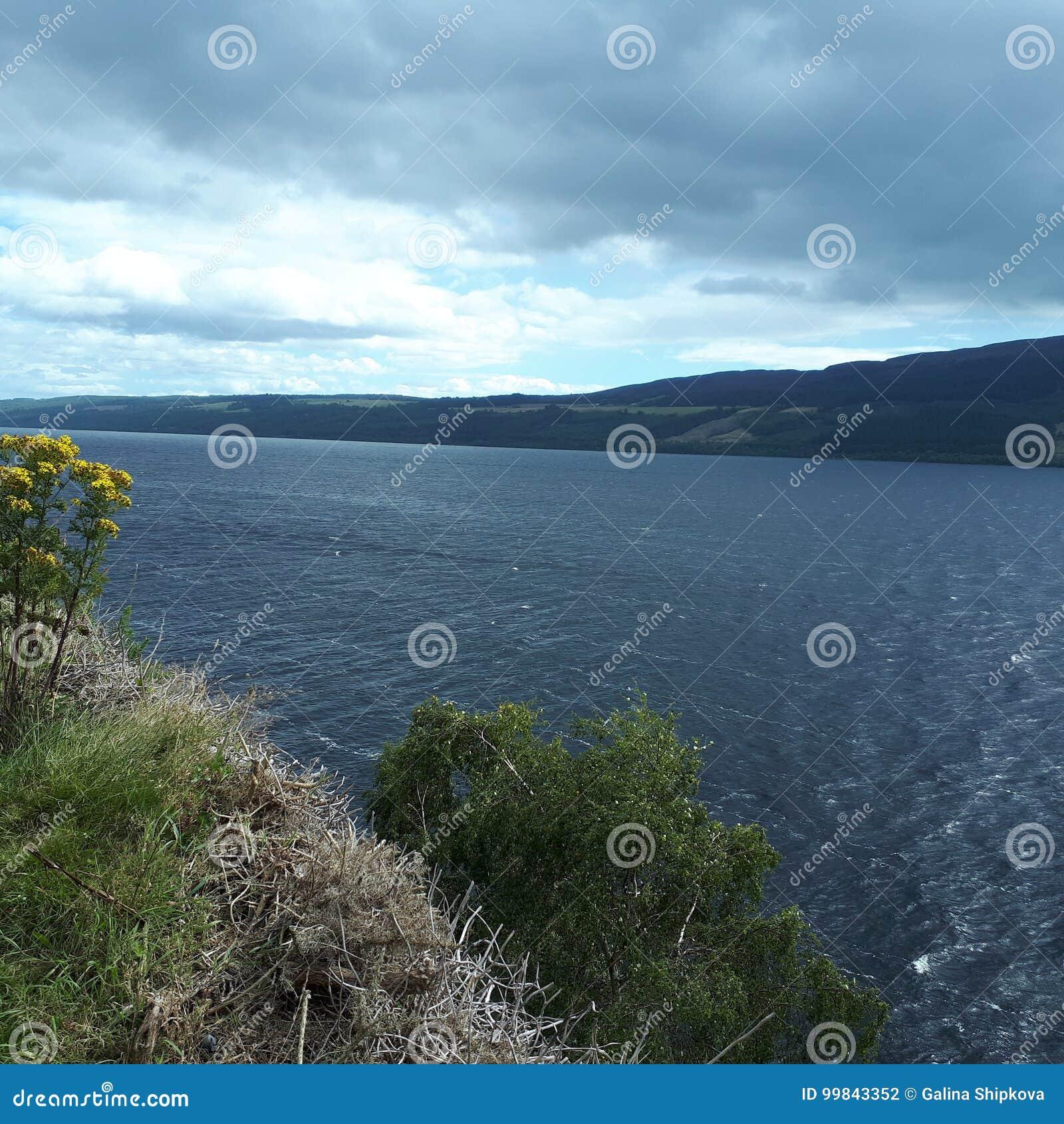 湖 苏格兰 奈斯湖 水