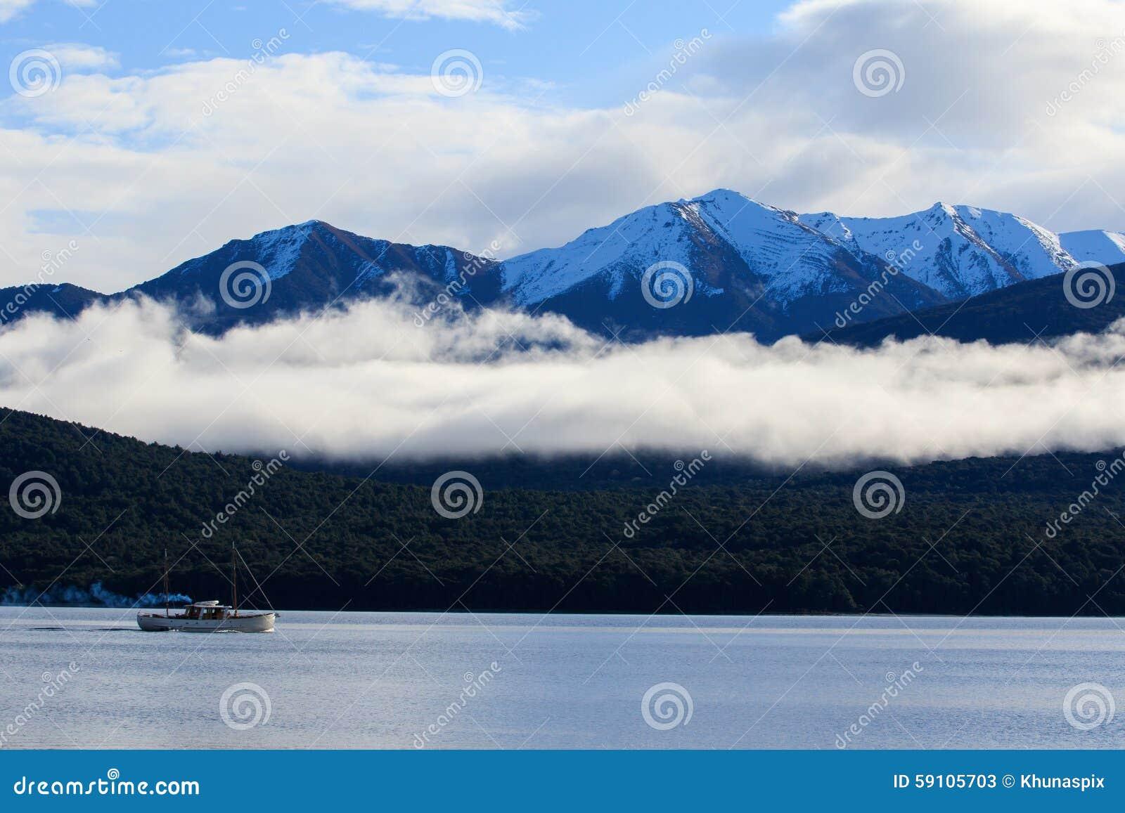 湖te anau南岛新西兰美好的sceninc