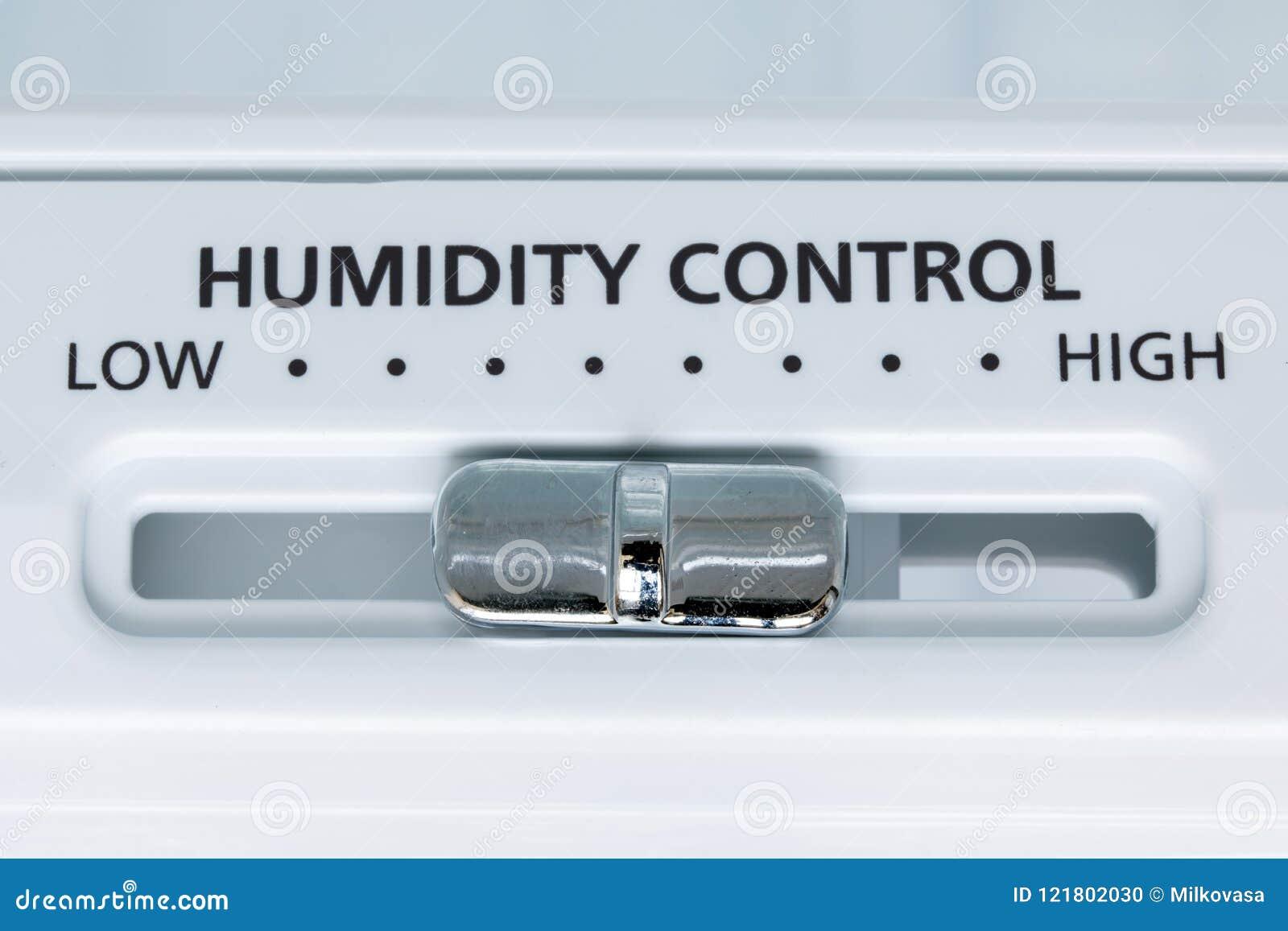 湿气,特写镜头视图控制在冰箱的