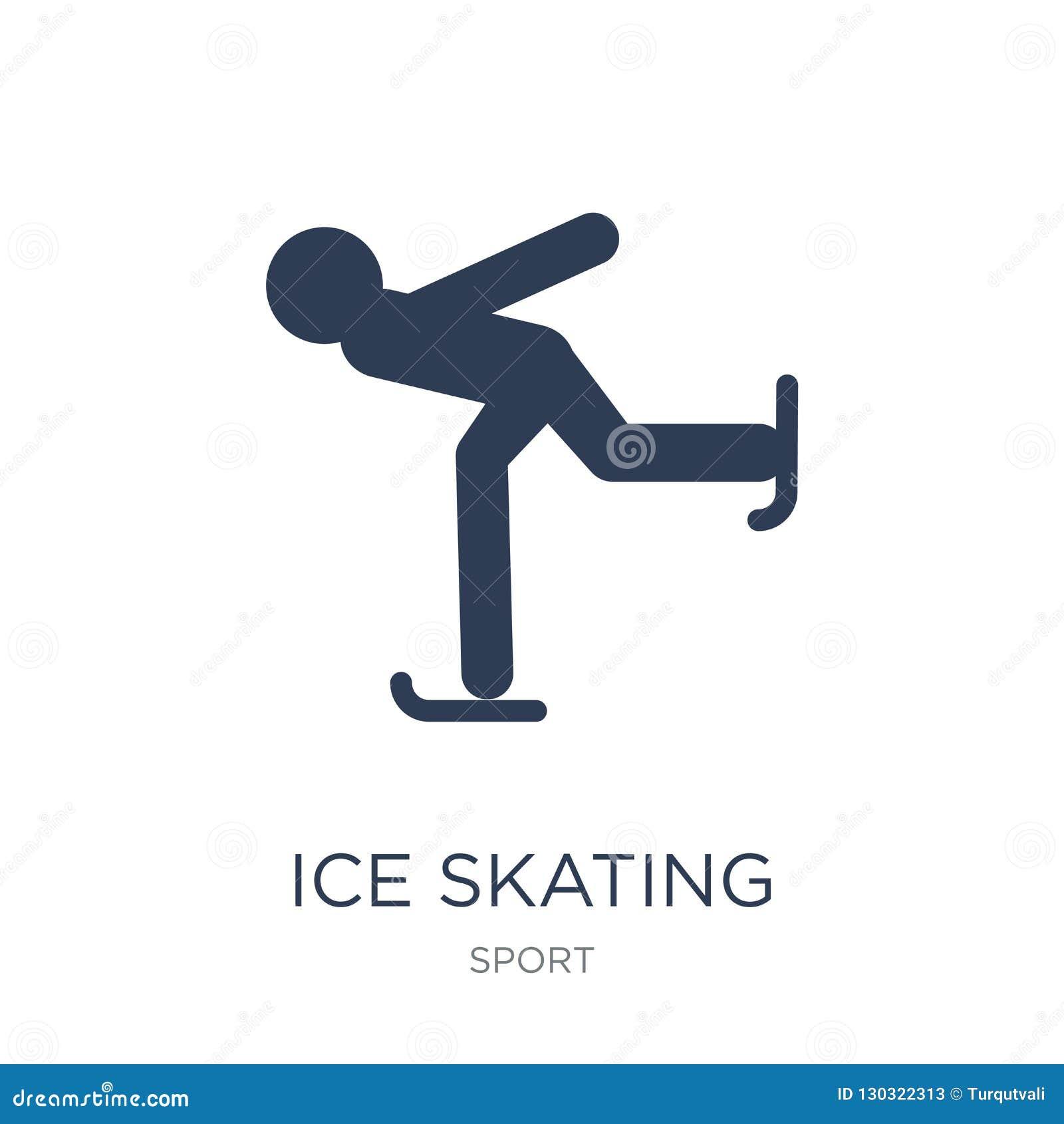 滑冰的象 时髦平的在白色b的传染媒介滑冰的象