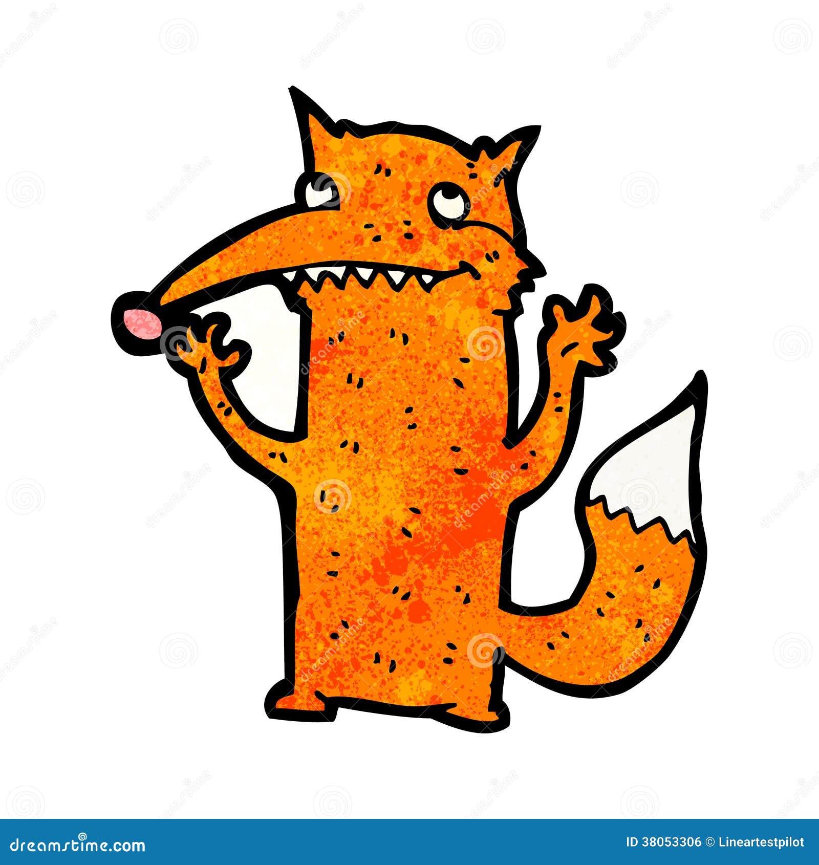 滑稽的动画片狐狸