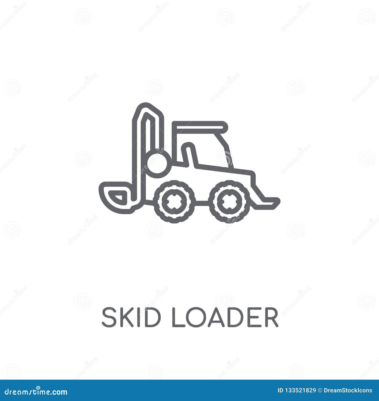 滑行装载者线性象 现代概述滑行装载者商标概念
