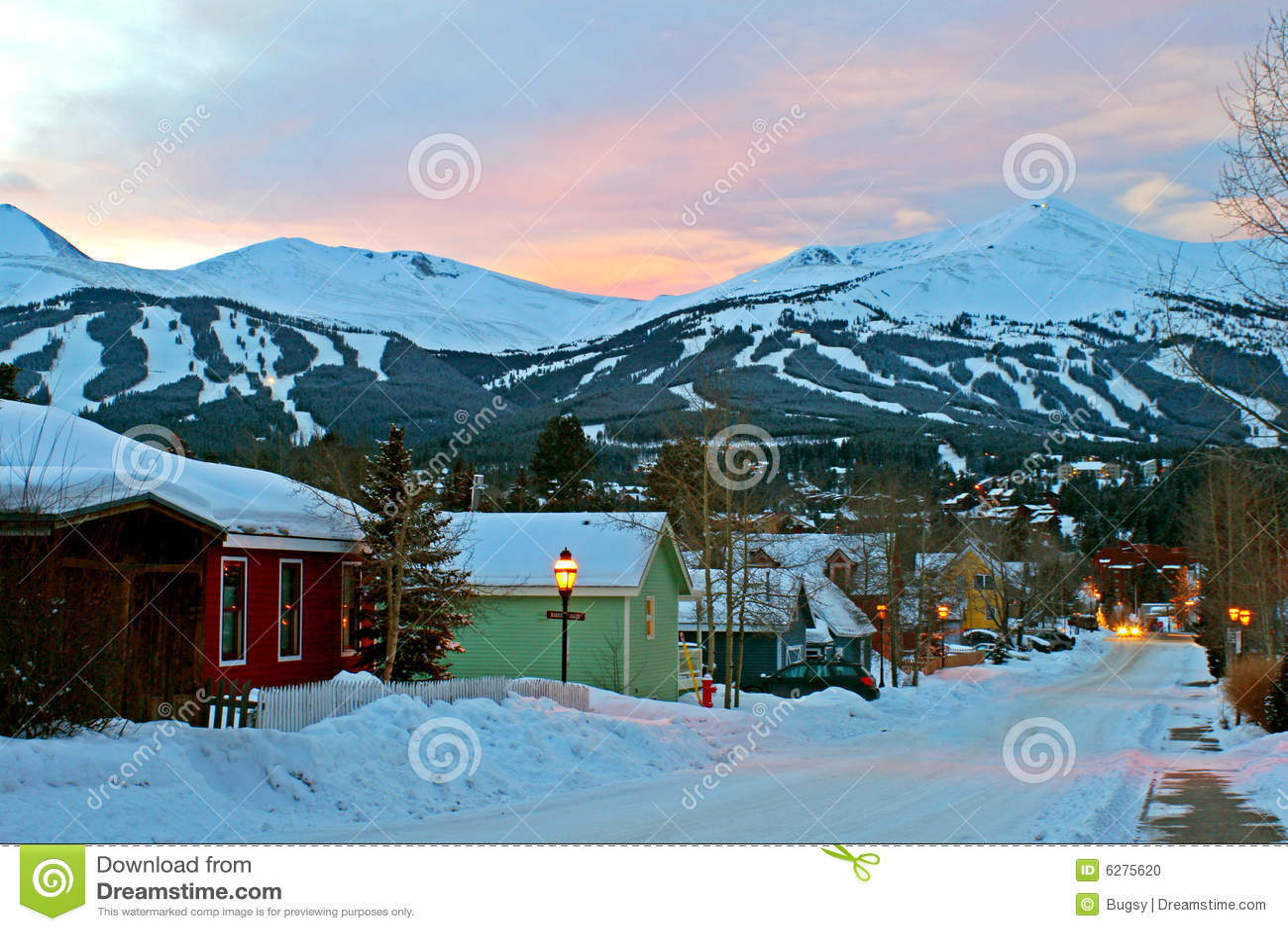 滑雪城镇村庄