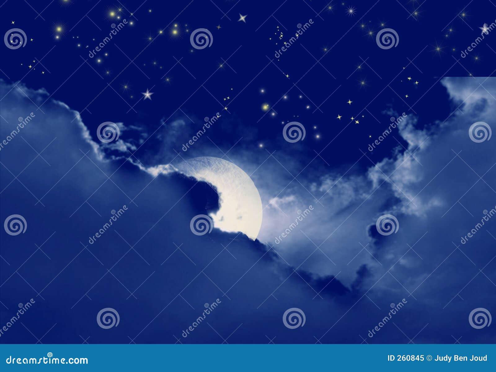 满天星斗的晚上