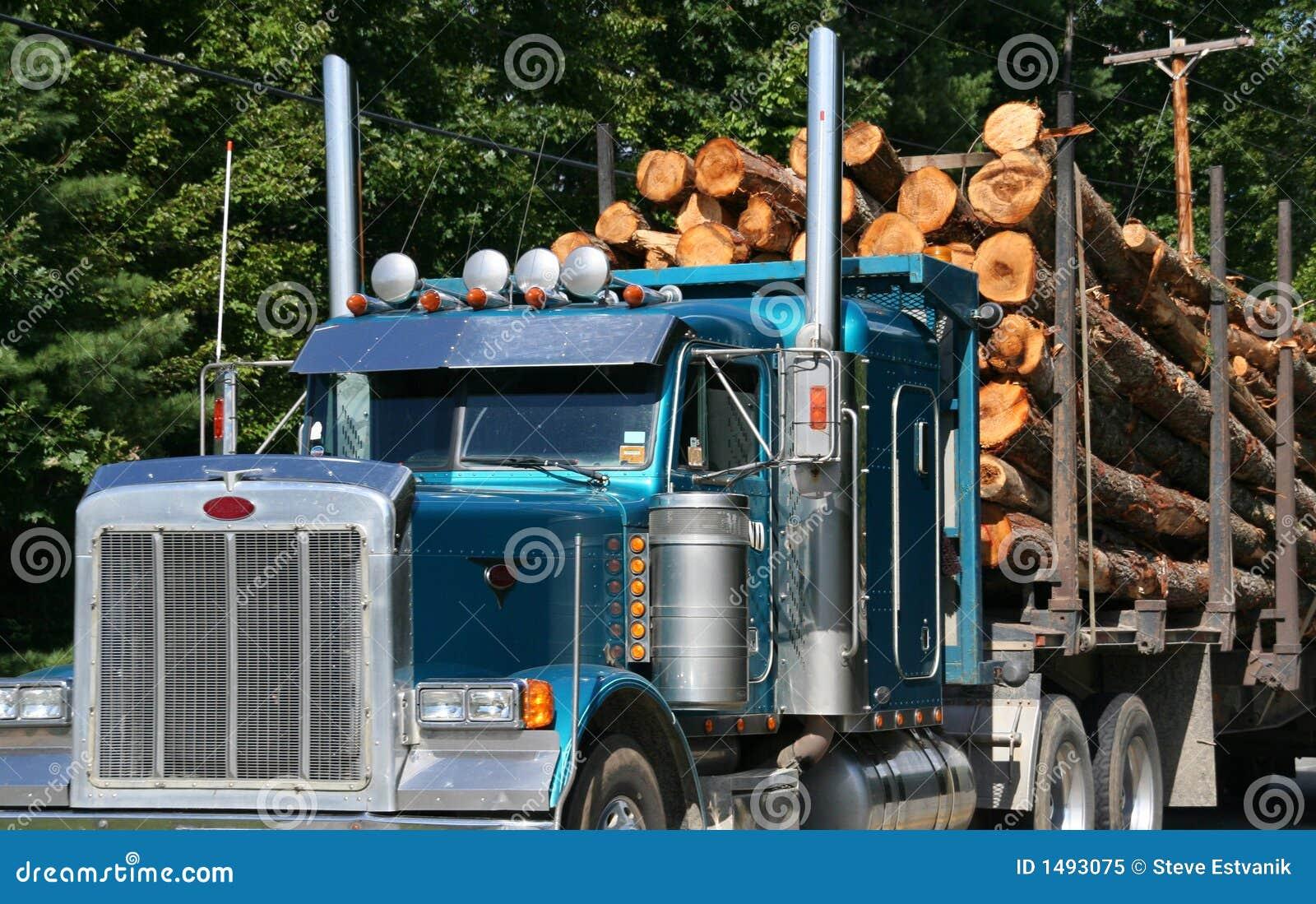 满载的记录的卡车