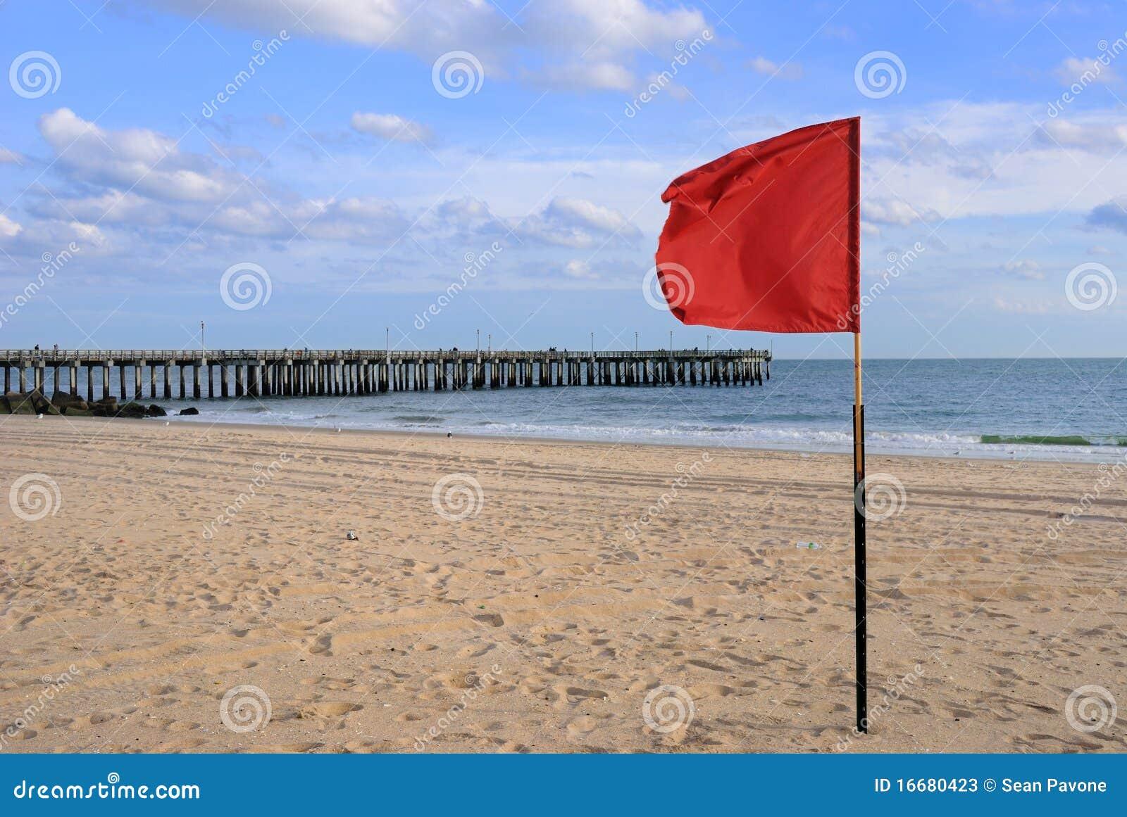 滩头识别旗红色