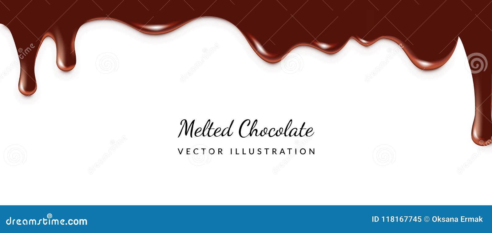 滴下的熔化巧克力