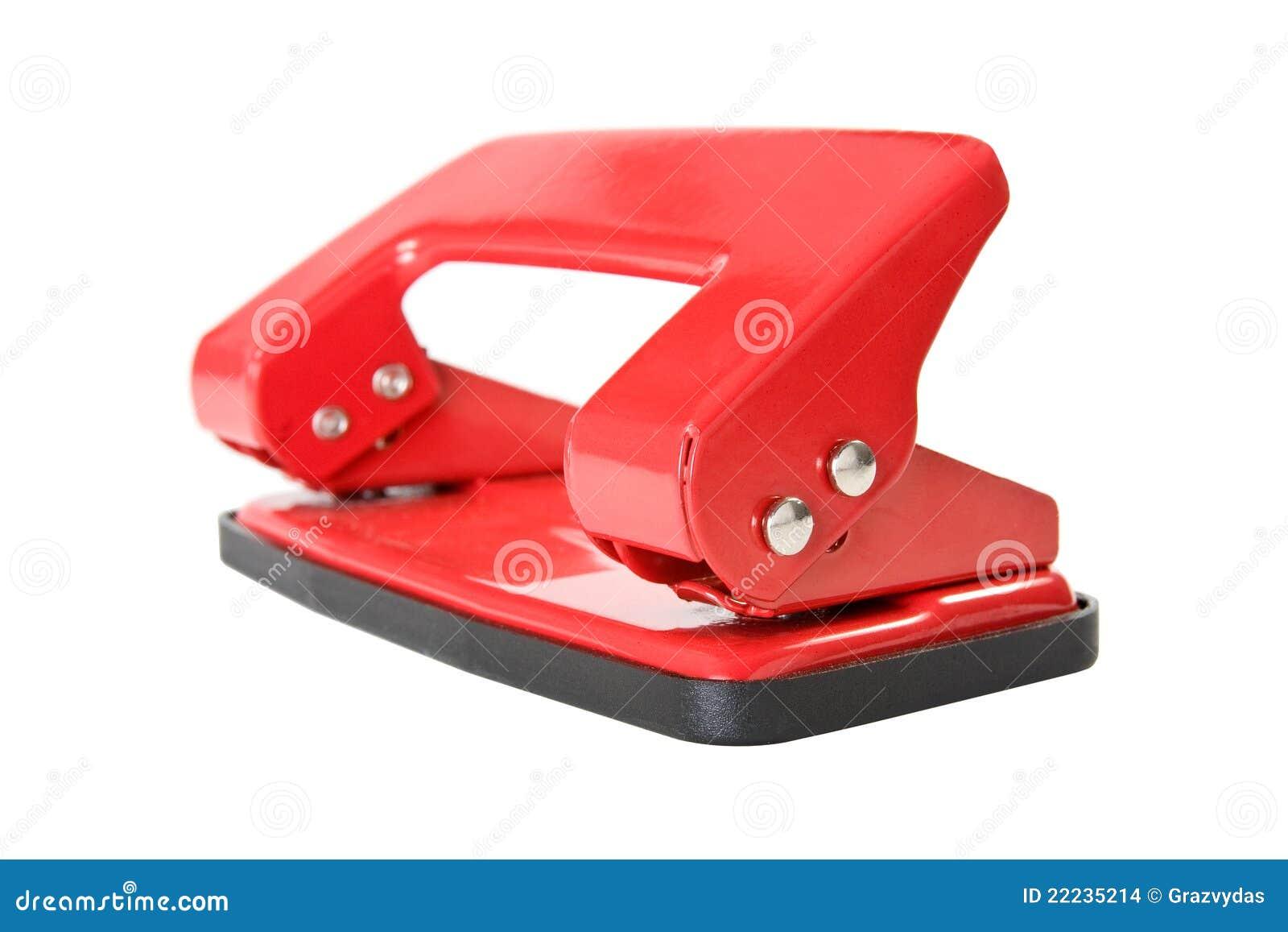 漏洞办公室纸张穿孔机红色